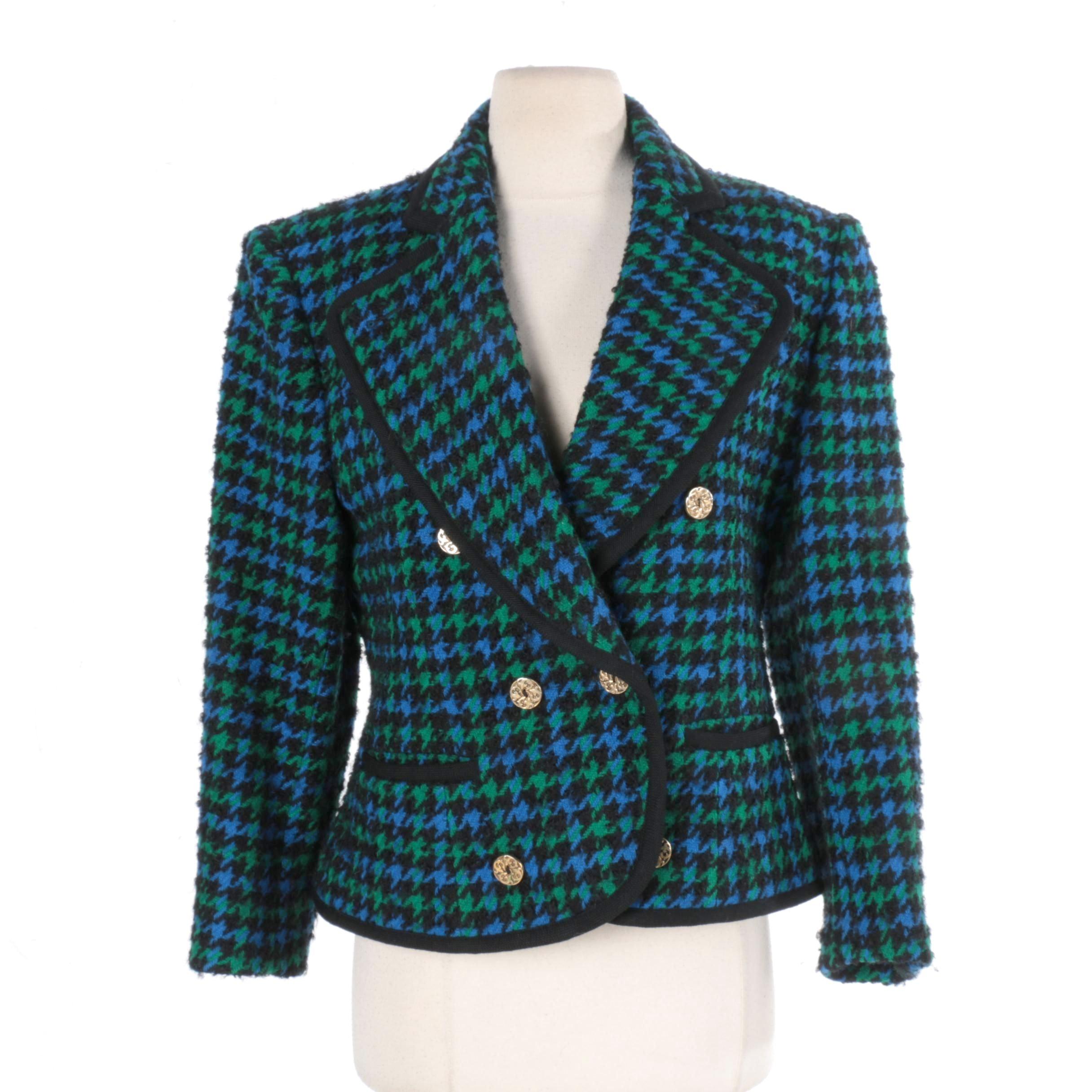 Women's Guy Laroche Boutique Paris Houndstooth Check Blazer