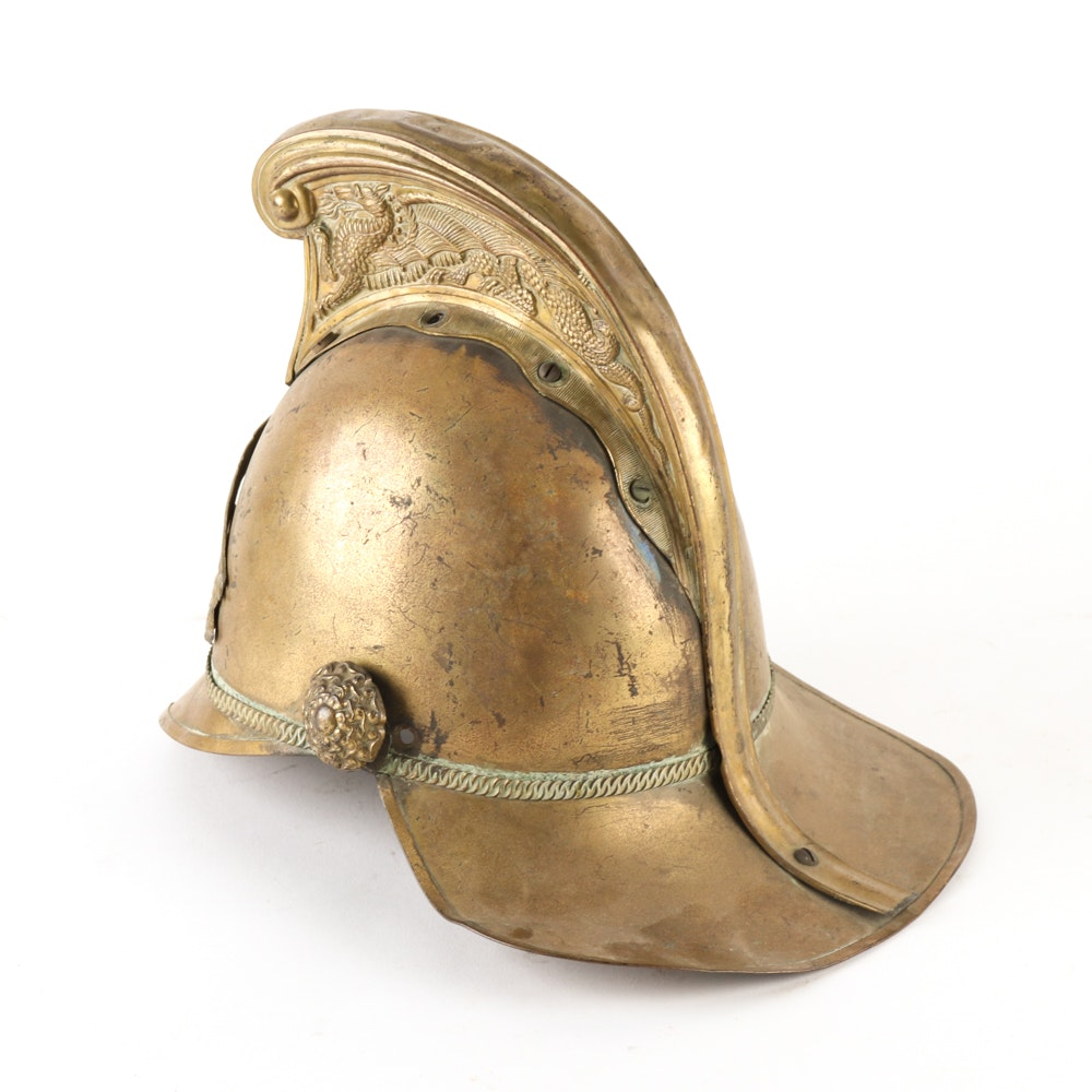 Brass Fireman's Helmet