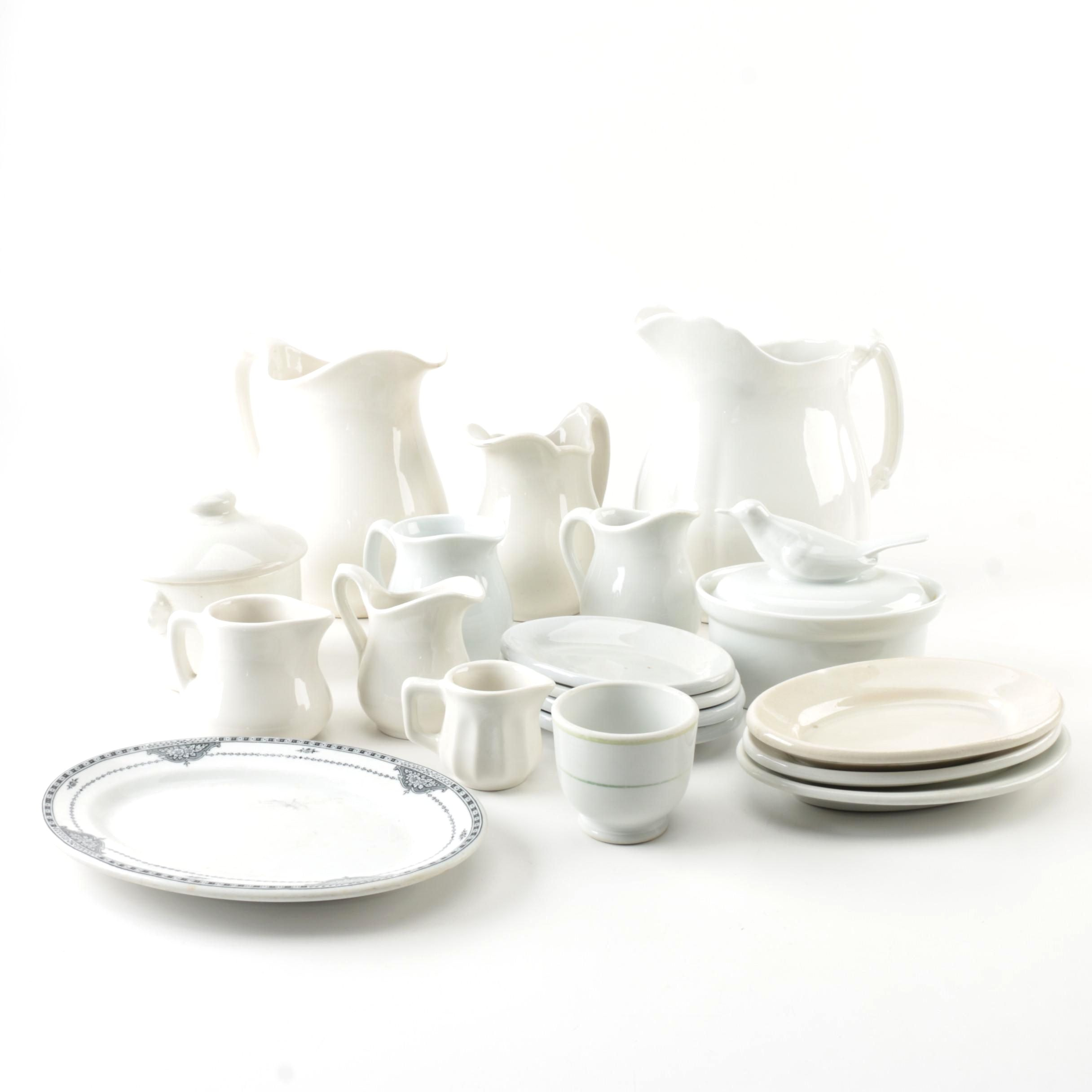 Royal Crownford Ironstone Creamer and Other Serveware