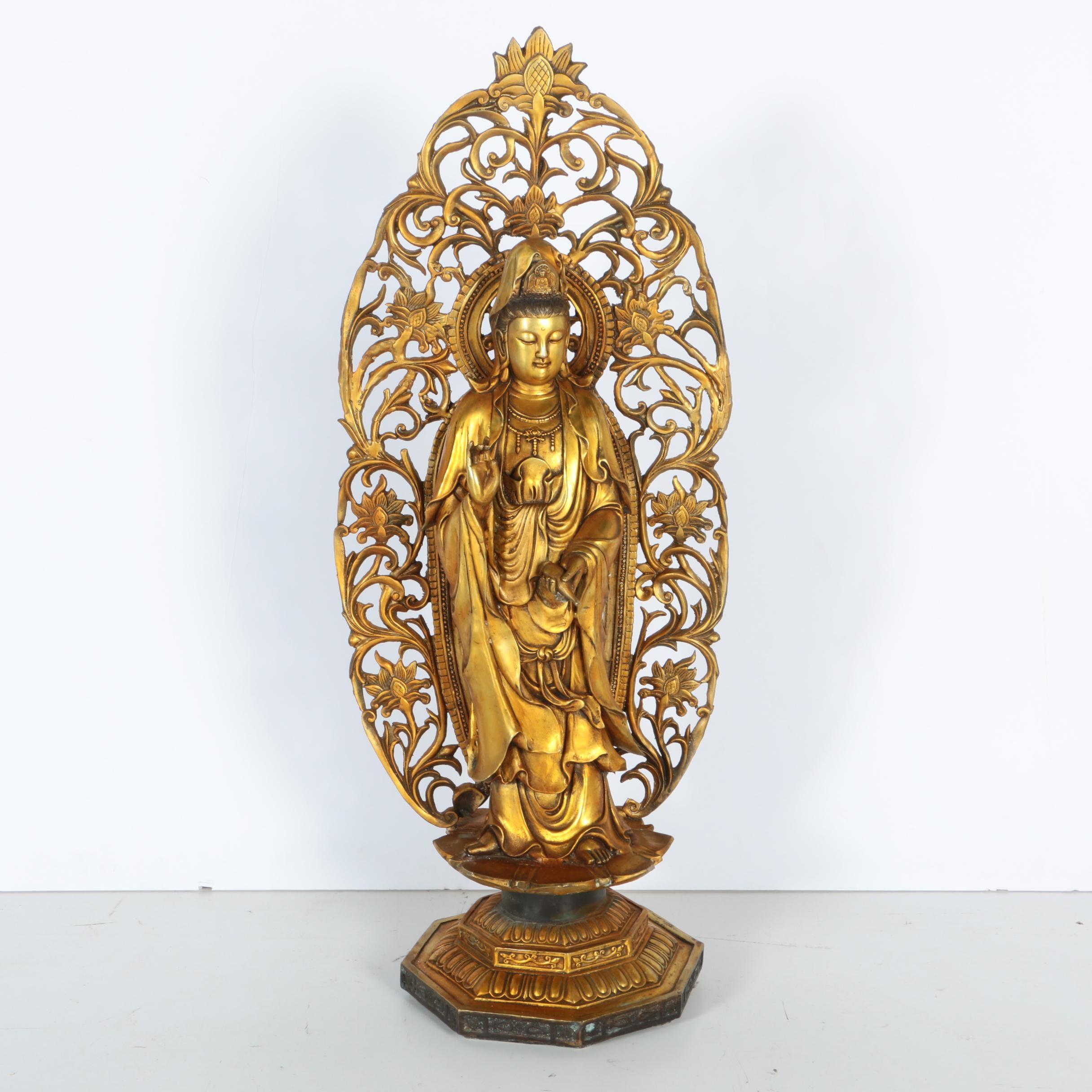 Metal Bodhisattva Figurine