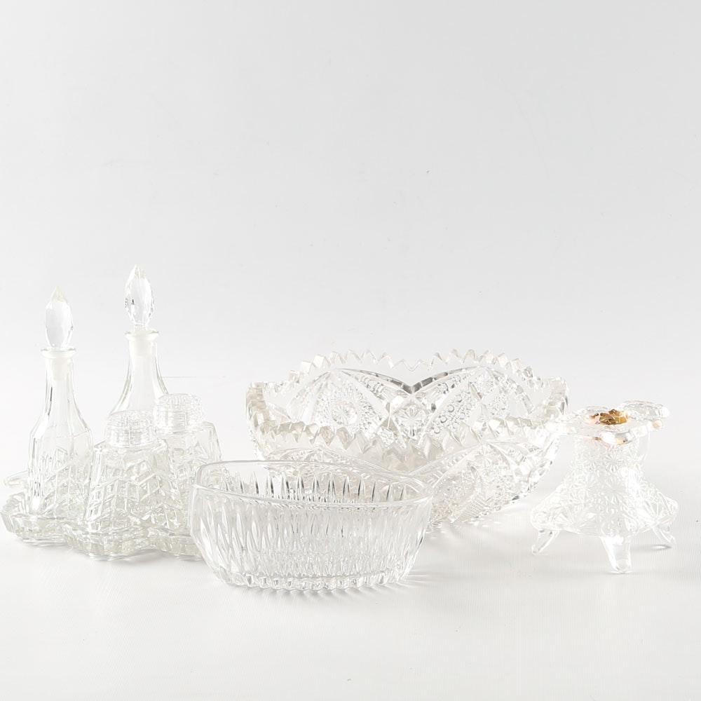 Vintage Pressed Glass Tableware