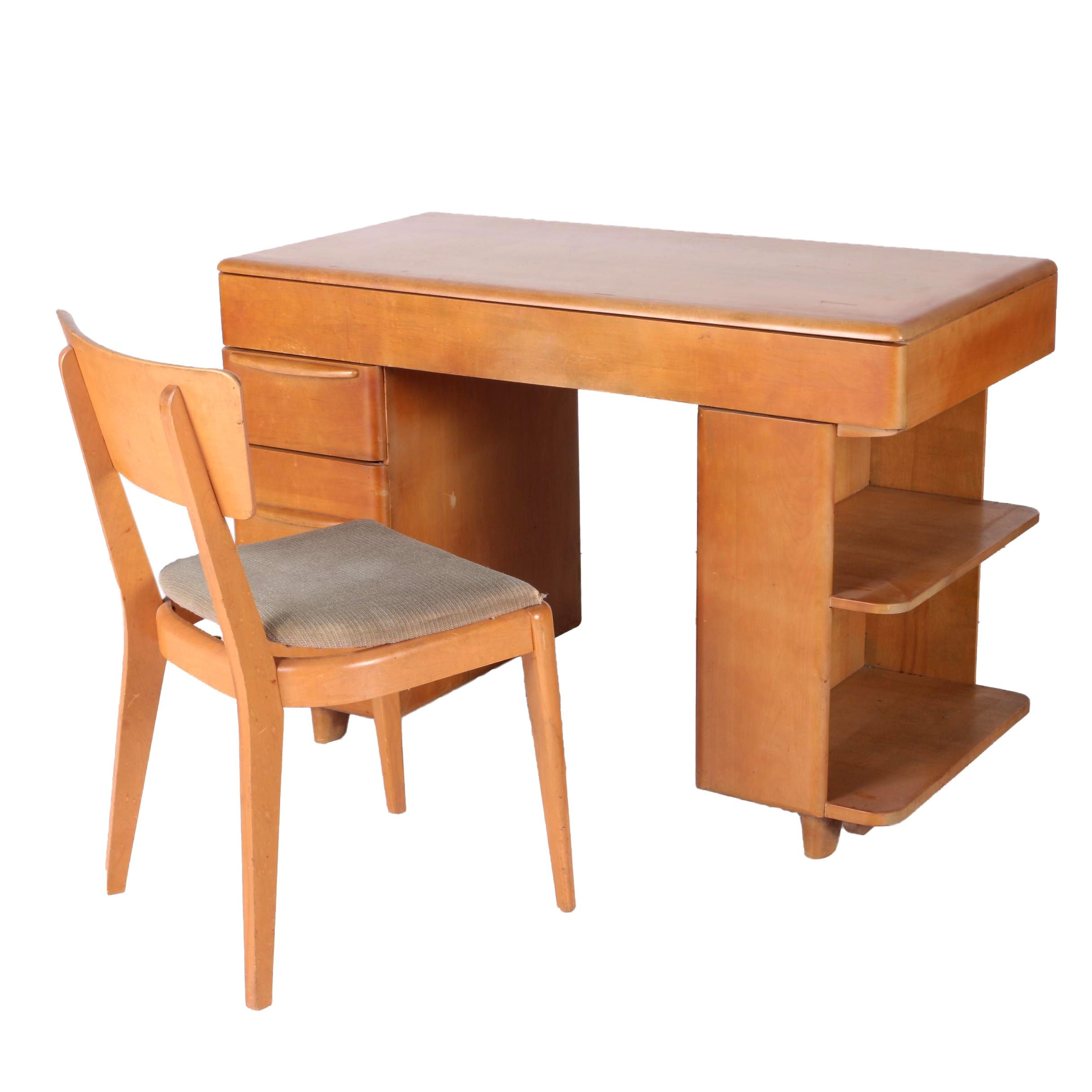 Mid Century Modern Heywood-Wakefield Desk with Chair