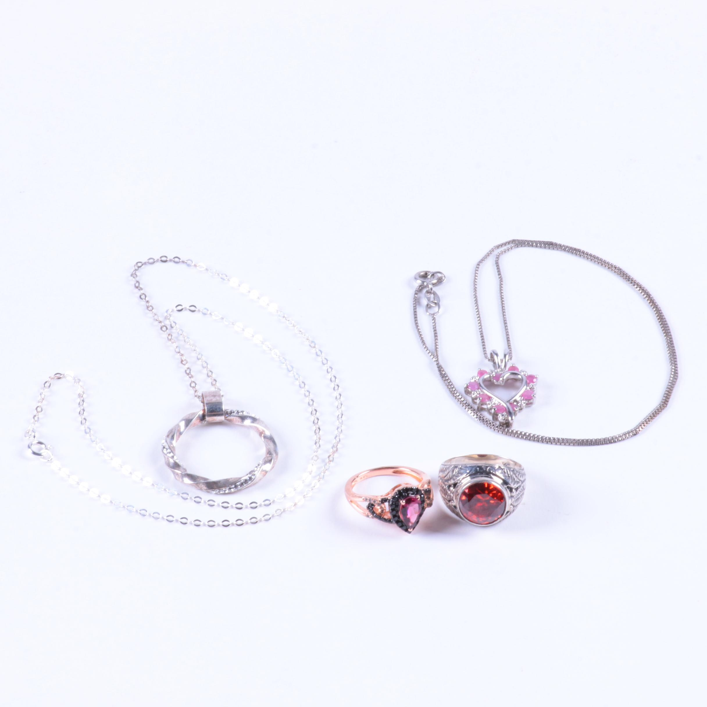 Sterling Silver Necklaces and Rings