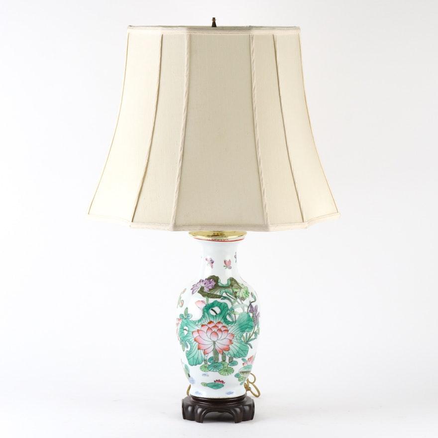 Chinese ceramic table lamp ebth chinese ceramic table lamp aloadofball Images