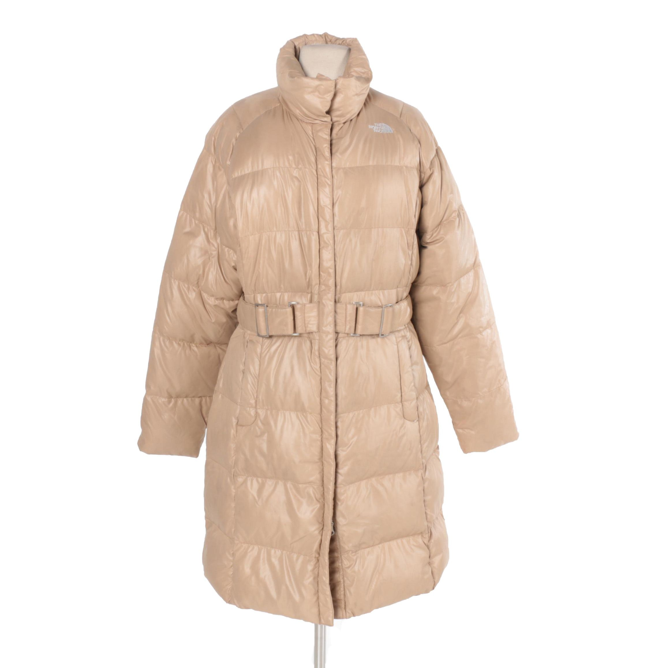 Women's The North Face Tan Puffer Coat