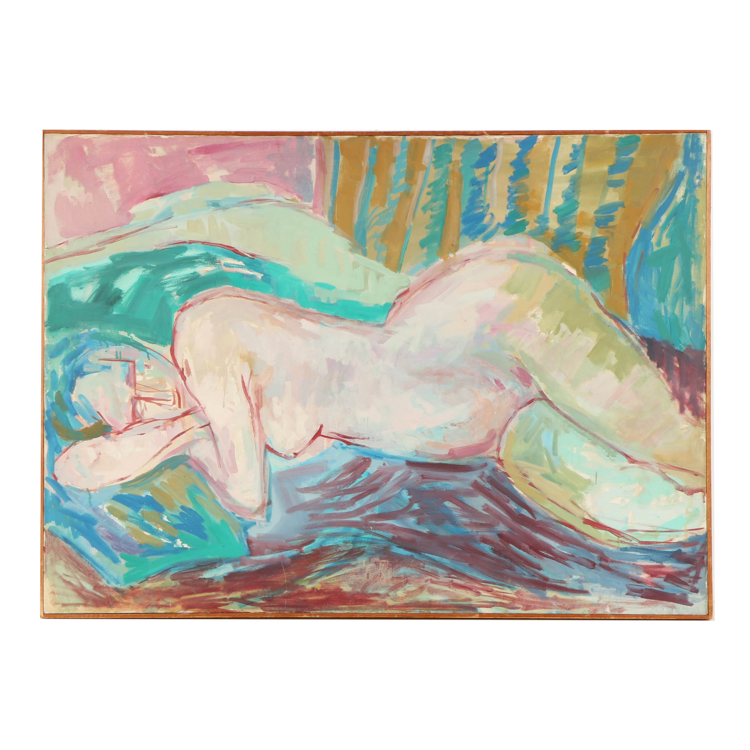 Oil Painting on Canvas of a Female Nude