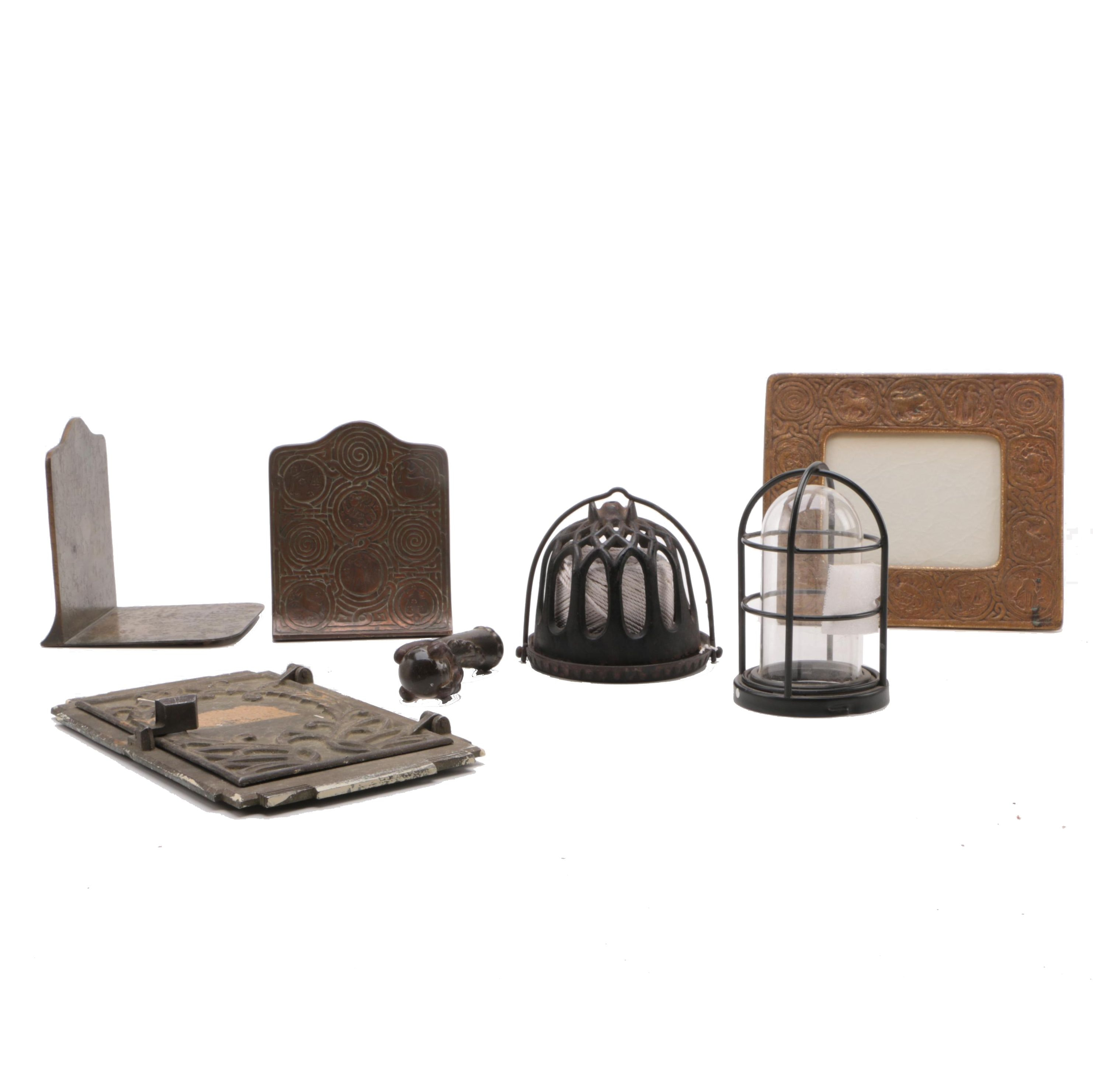 Metal Frames Candleholders and Bookends