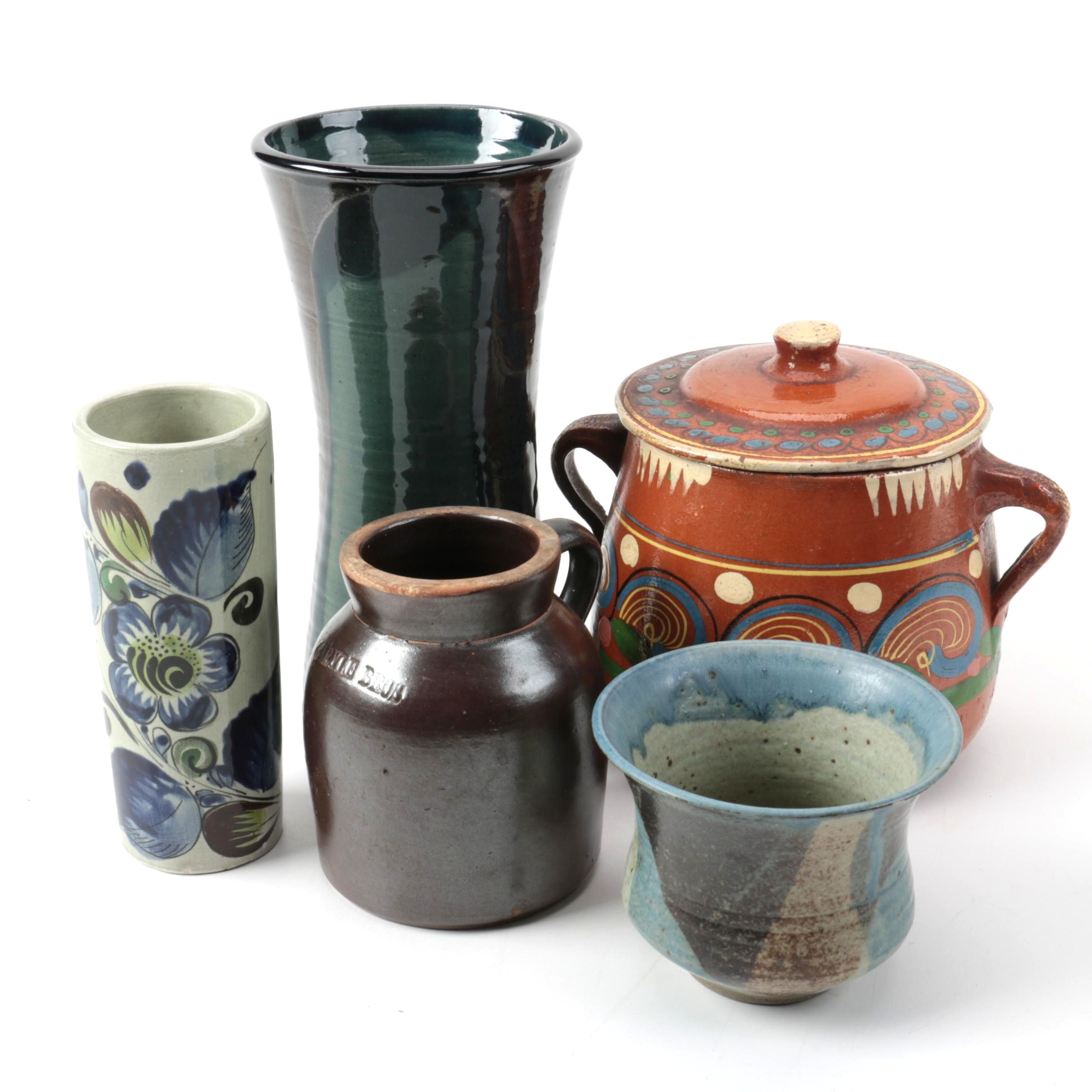 Hand Thrown Stoneware and Mexican Redware Tableware