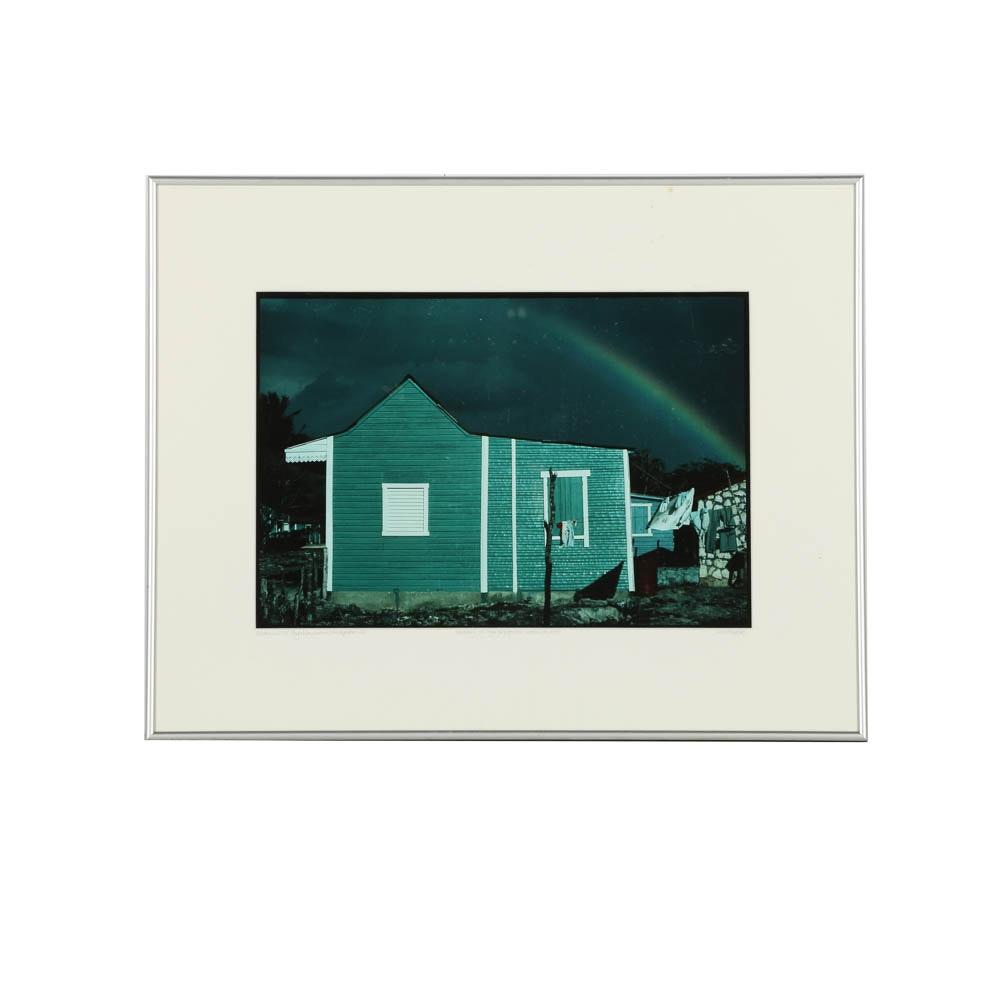 """Ann Parker 1987 Artist's Proof Color Photograph """"Fisherman's Hut"""""""