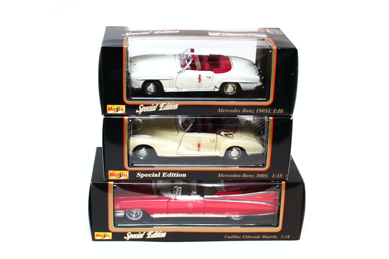 Special Edition Maisto 1:18 Scale Die Cast Cars