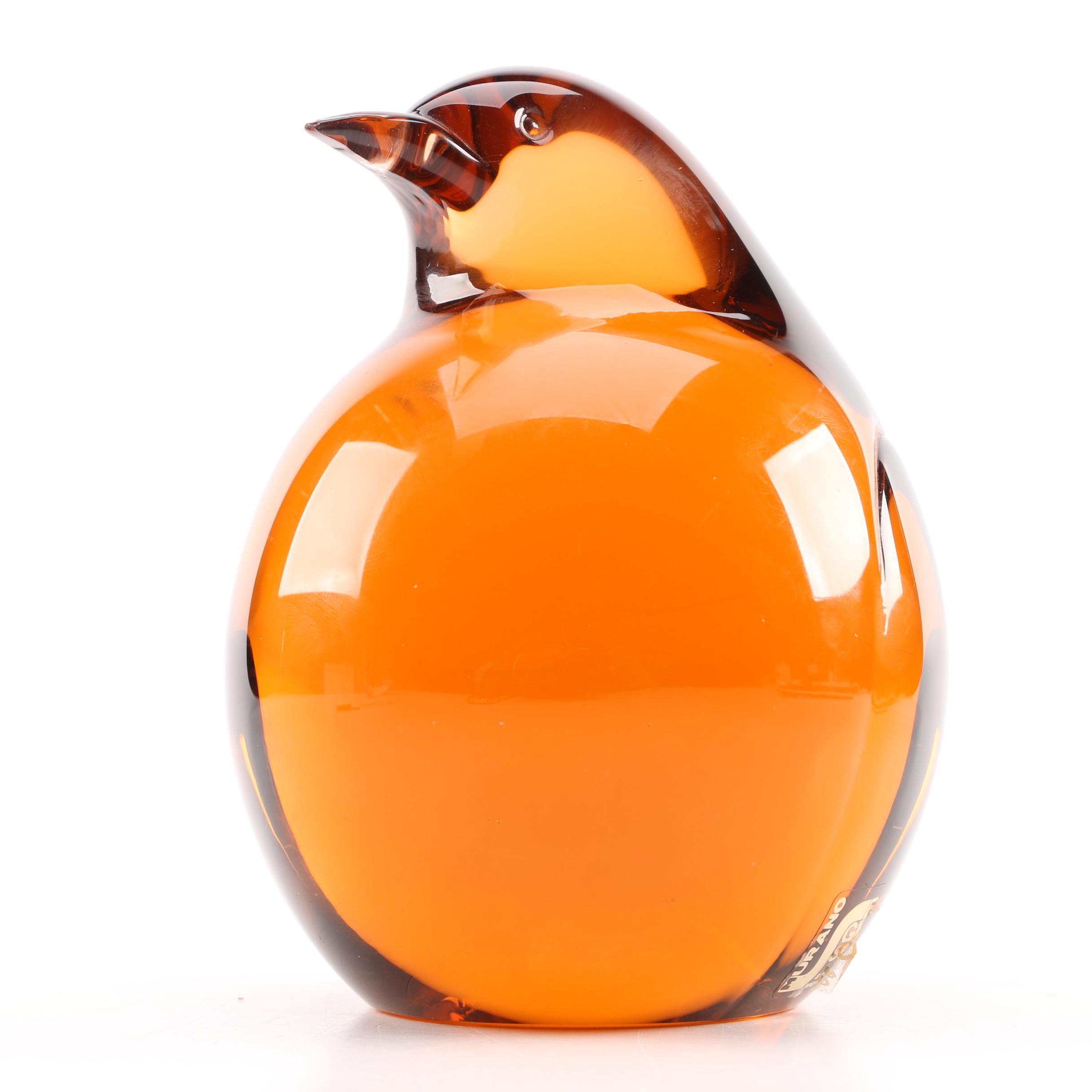 Murano Glass Bird Paperweight