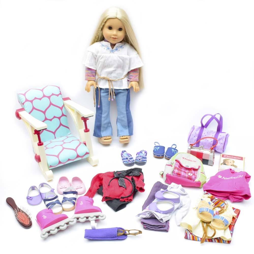 "American Girl ""Julie"" Doll with Clothing and Accessories"