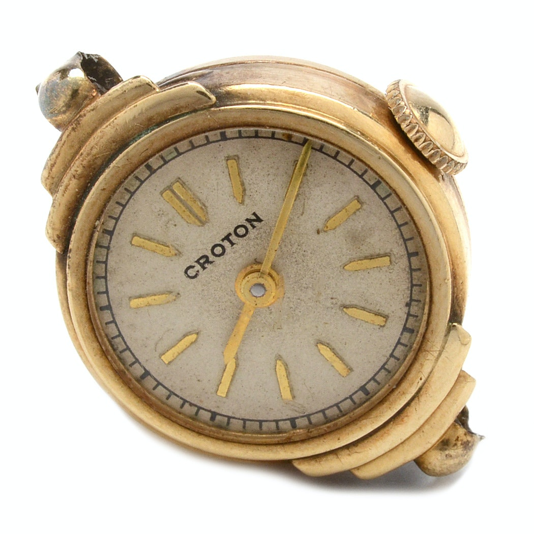 14K Yellow Croton Gold Wristwatch