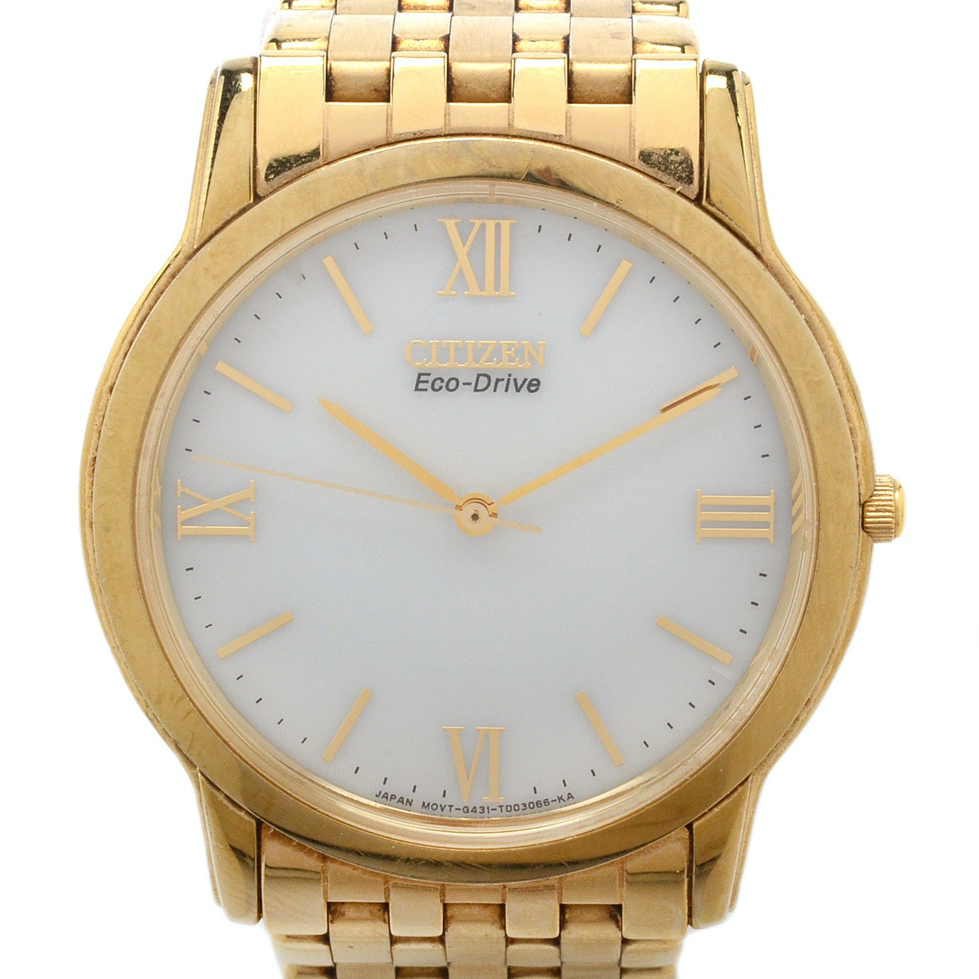 Citizen Stiletto Eco-Drive Gold Tone Wristwatch