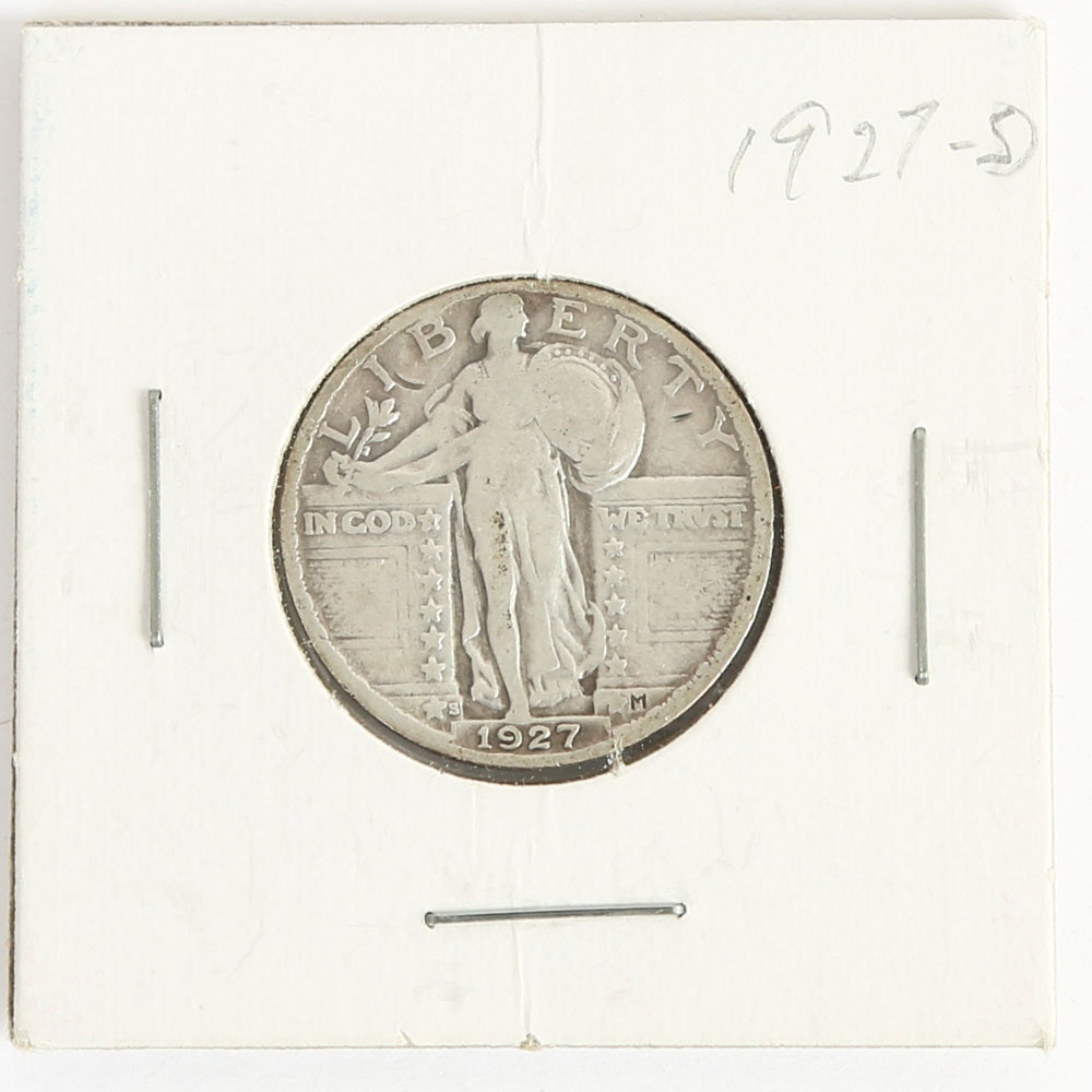 1927 D Standing Liberty Quarter Dollar