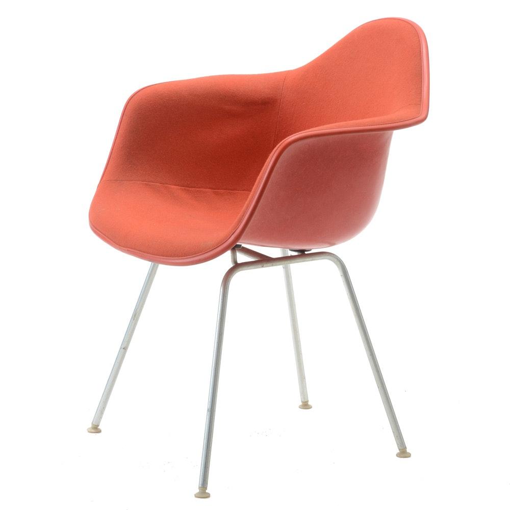 Mid Century Modern Red Upholstered Eames for Herman Miller Shell Chair