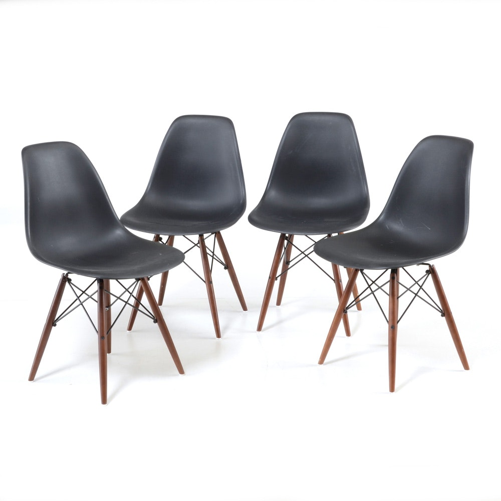 Set of Four Modern Eames Style Shell Chairs