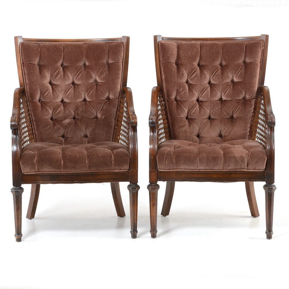 Pairing of Vintage Arm Chairs by Regency Manor