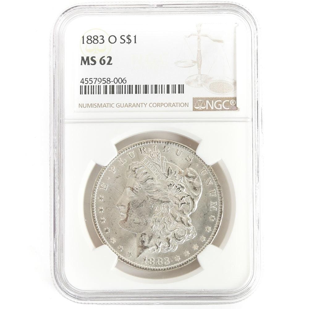 NGC Graded 1883 O Morgan Silver Dollar