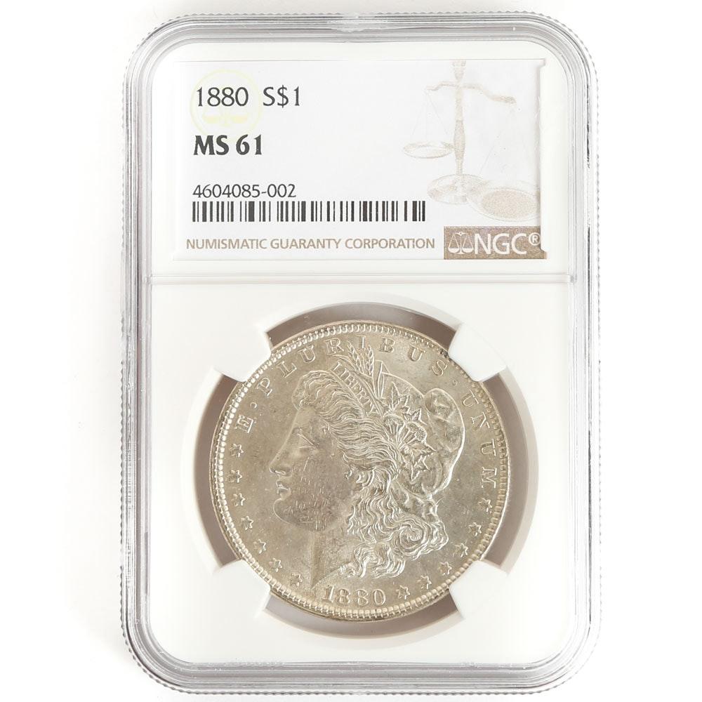 NGC Graded 1880 Morgan Silver Dollar