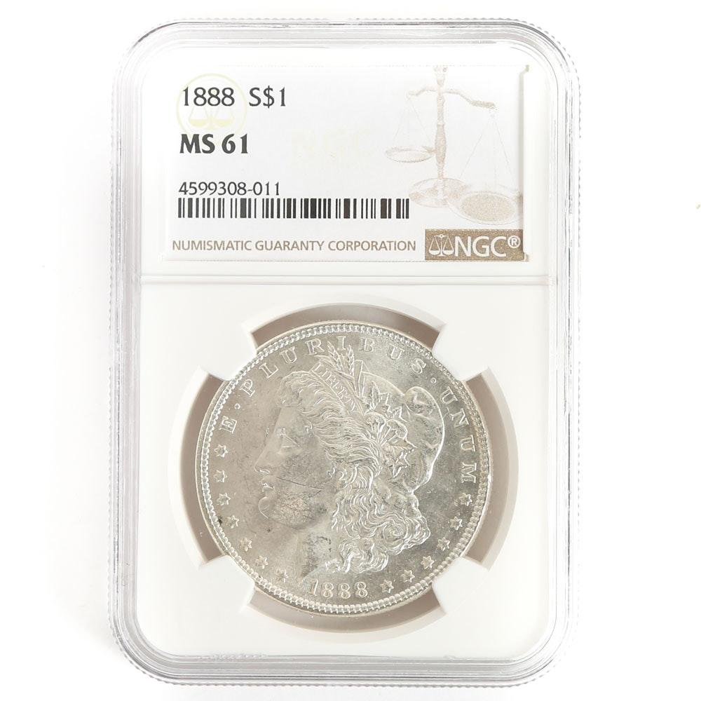 NGC Graded 1888 Morgan Silver Dollar