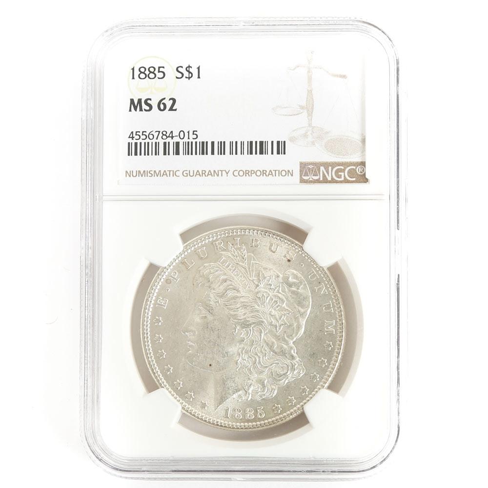 NGC Graded 1885 Morgan Silver Dollar