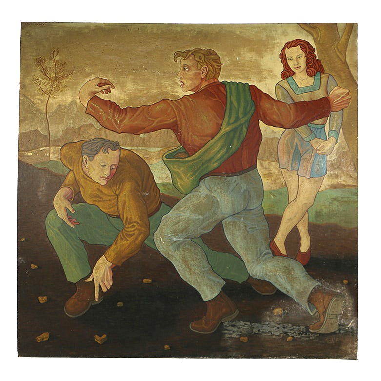 "Carlo Di Paolo Oil Painting on Masonite ""The Sower of Truth"""