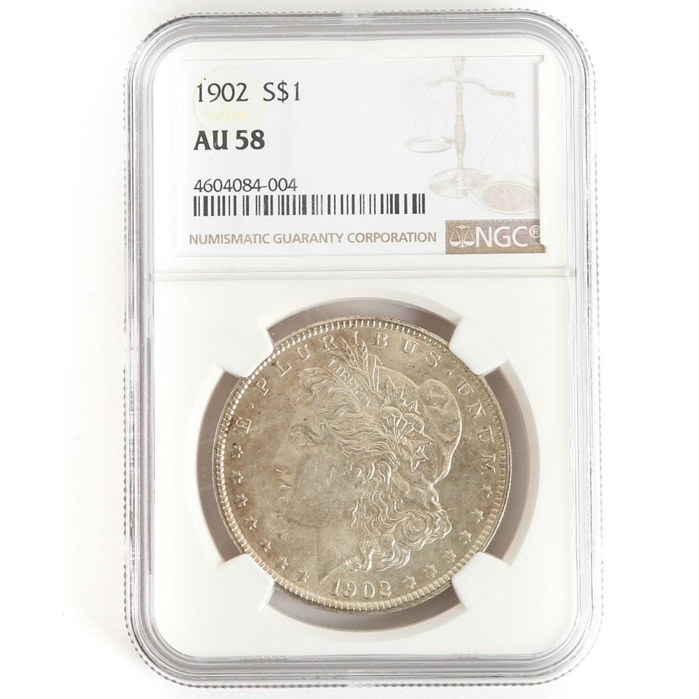 NCG Graded 1902 Morgan Silver Dollar