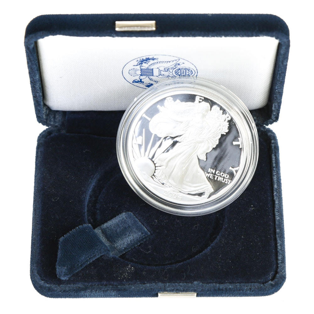 2004 Walking Liberty Fine Silver Dollar