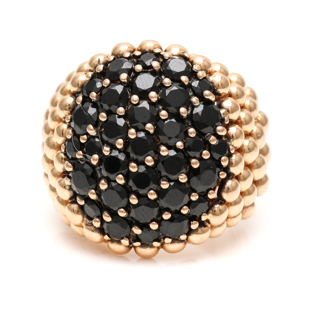 Pasquale Bruni 18K Yellow Gold Black Spinel Ring