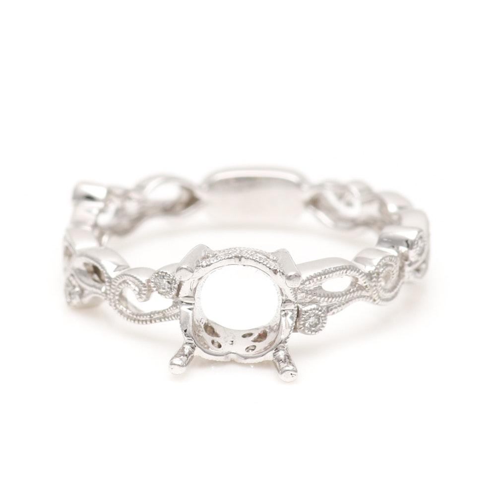Beverley K 18K White Gold Diamond Semi-Mount Ring