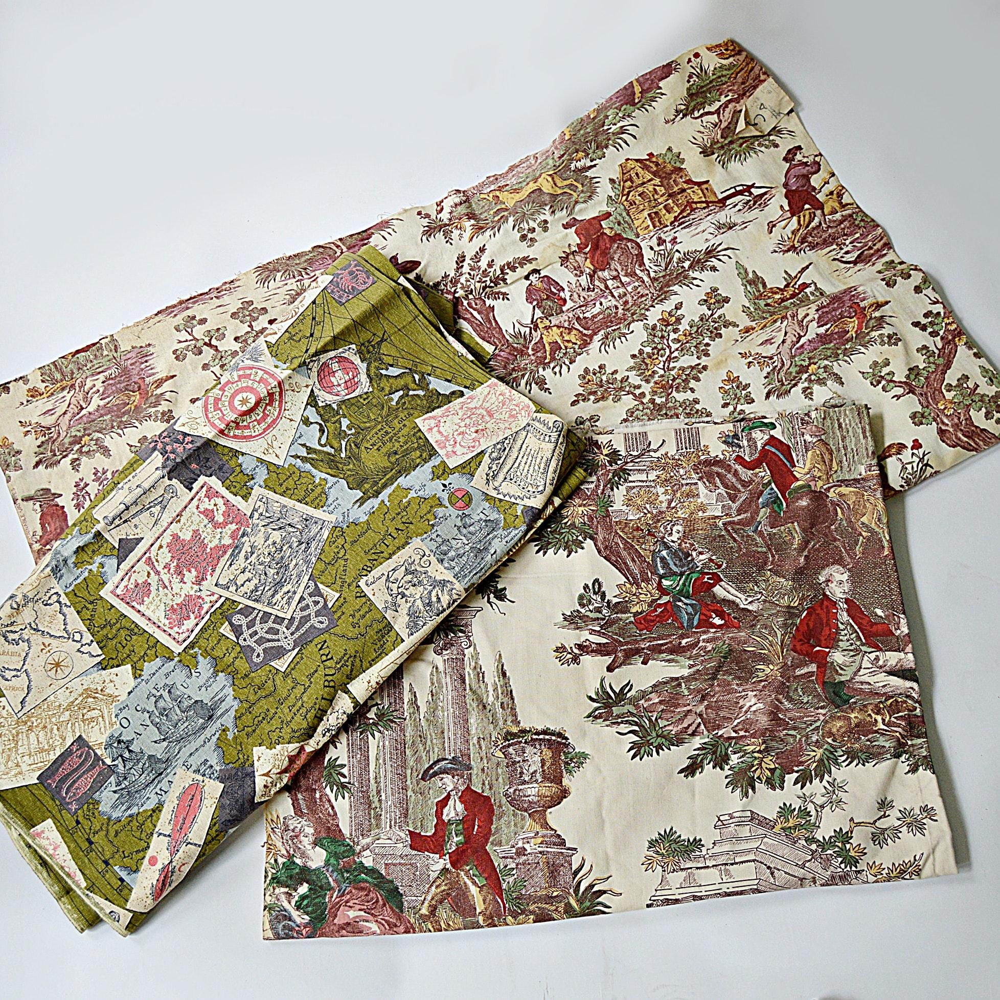 Vintage Patterned Cotton Fabrics