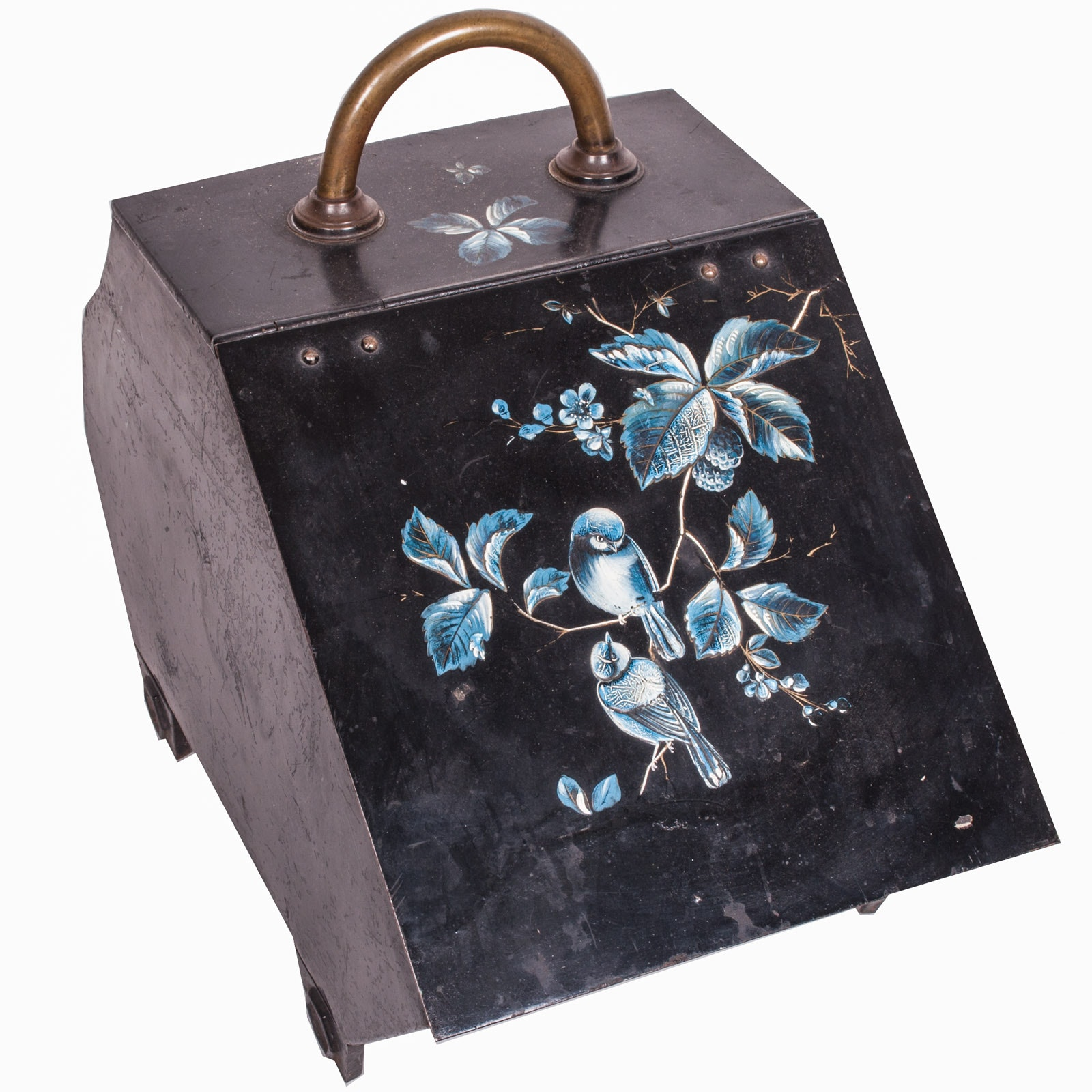 Vintage Metal Firestarter with Blue Birds