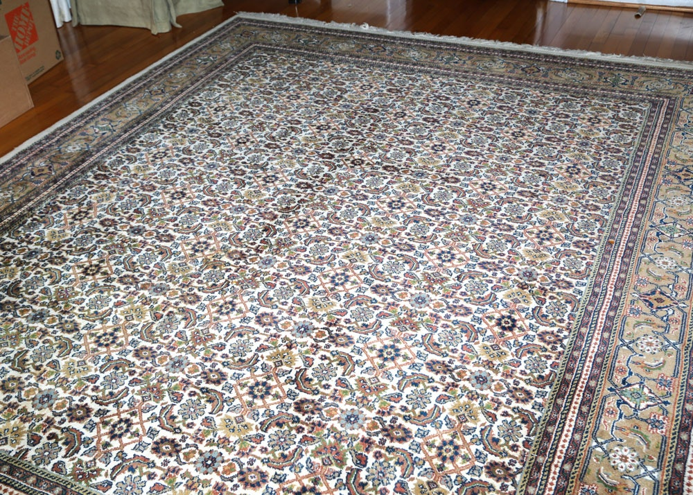 Hand-Knotted Persian Moud Wool Area Rug