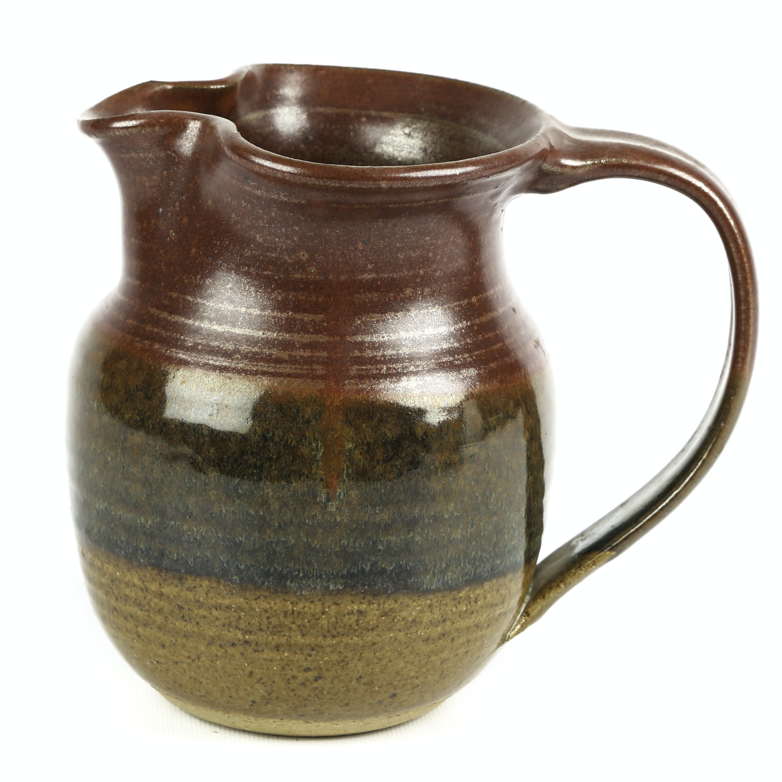 Signed Hand-Thrown Stoneware Pitcher