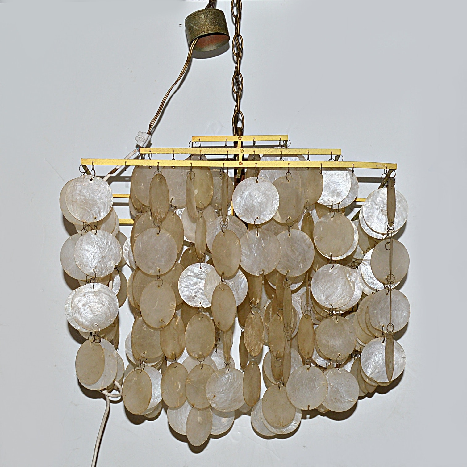 1970s Capiz Shell Chandelier
