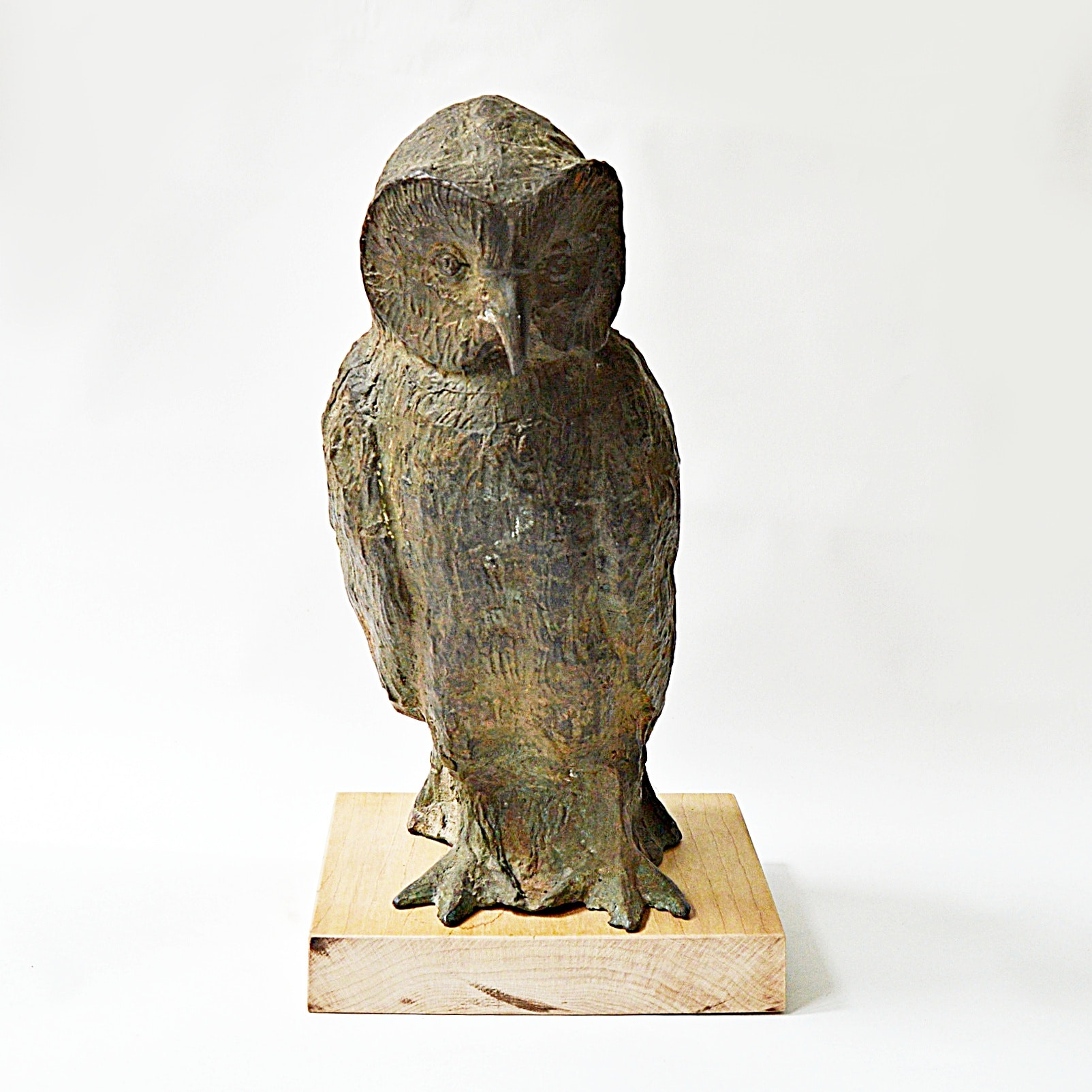 Arts and Crafts Eschbach Signed Cast Bronze Owl