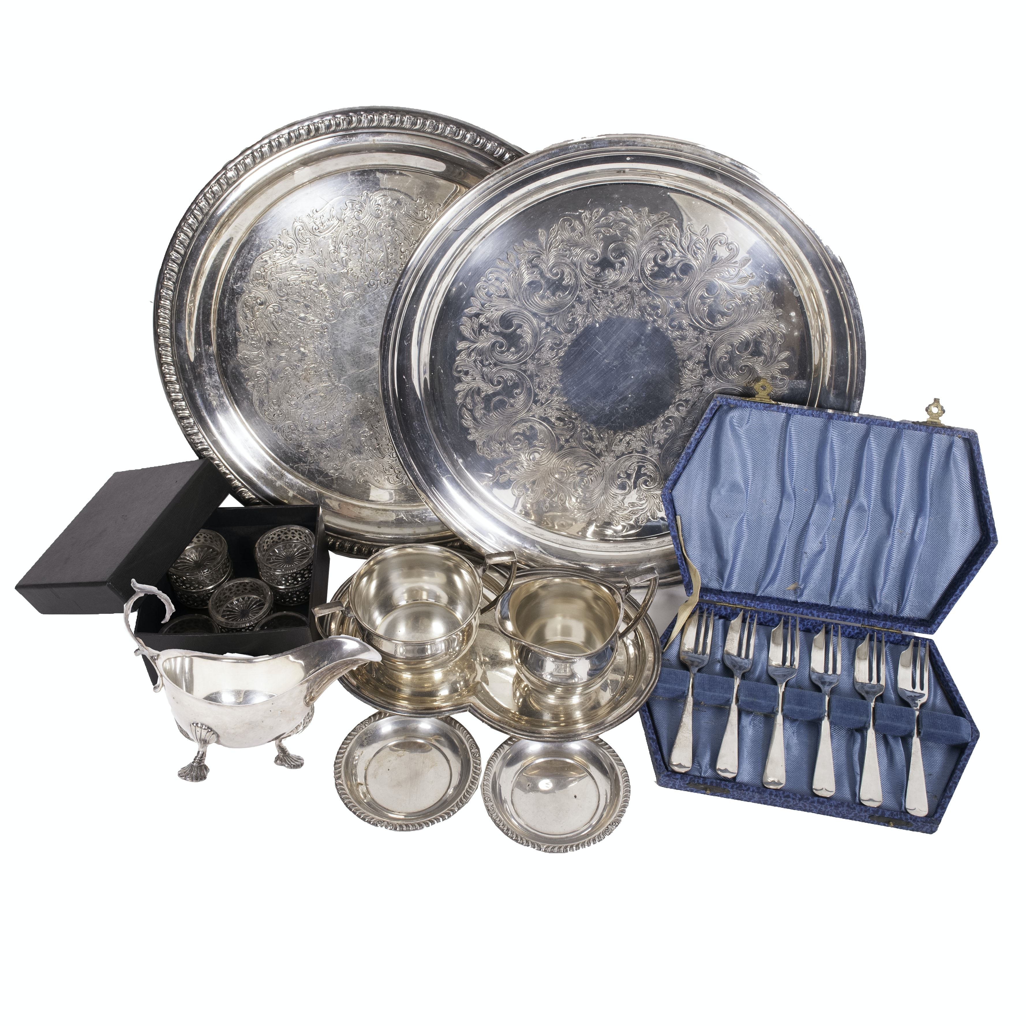 Wallace Silver Plate Tray and Other Silver Plate Serveware