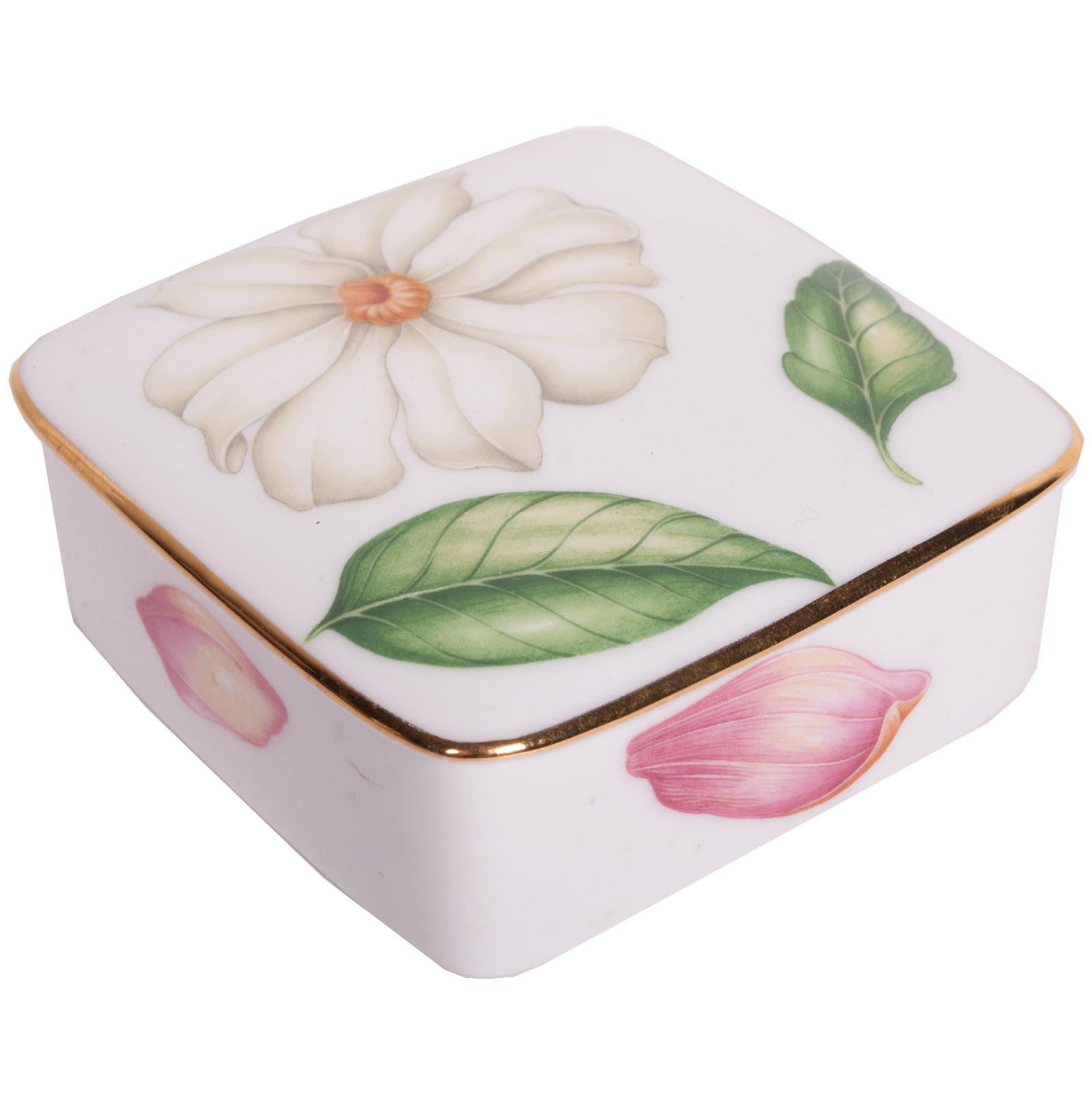 "Tiffany & Co. Limoges 1997 ""Tiffany Flowers"" Trinket Box with Lid"