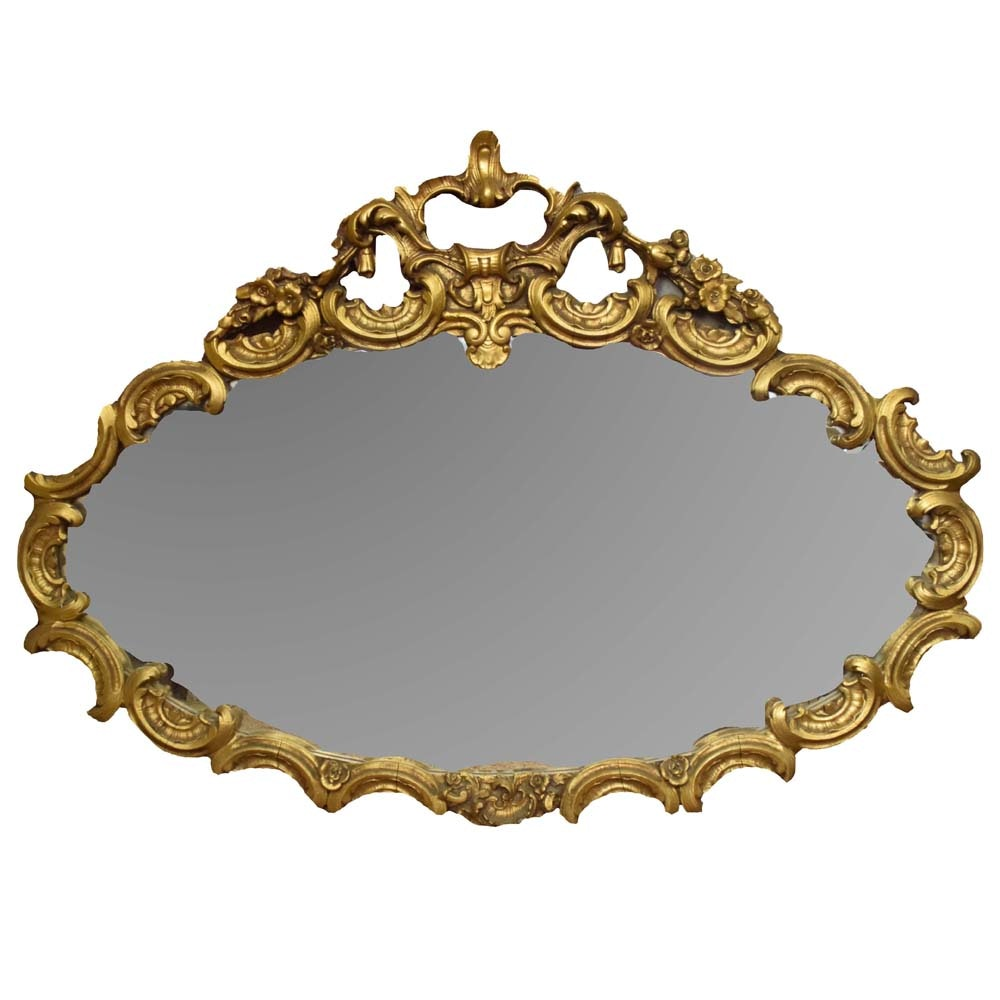 French Rococo Style Wall Mirror