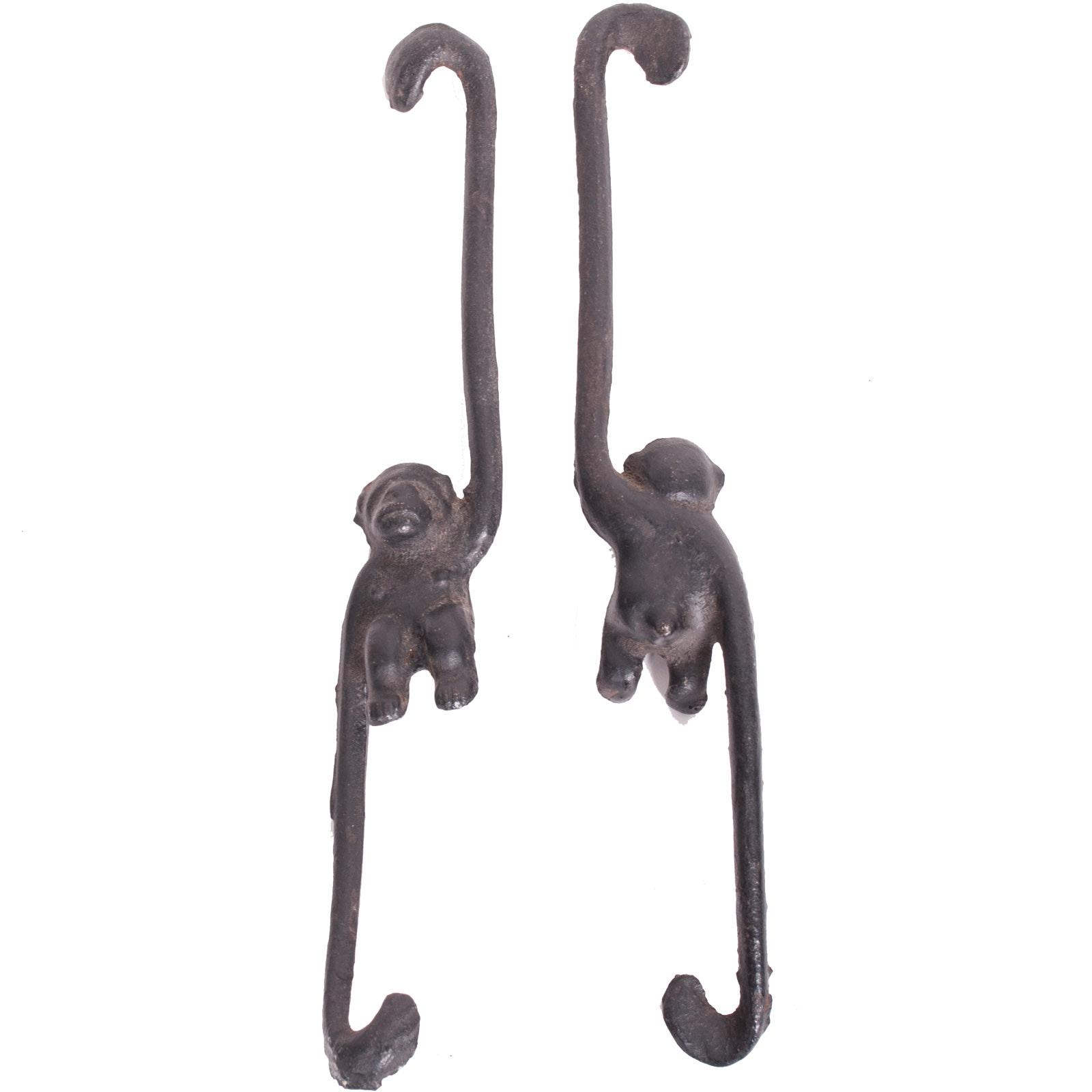 Vintage Cast Iron Monkey Plant Hangers
