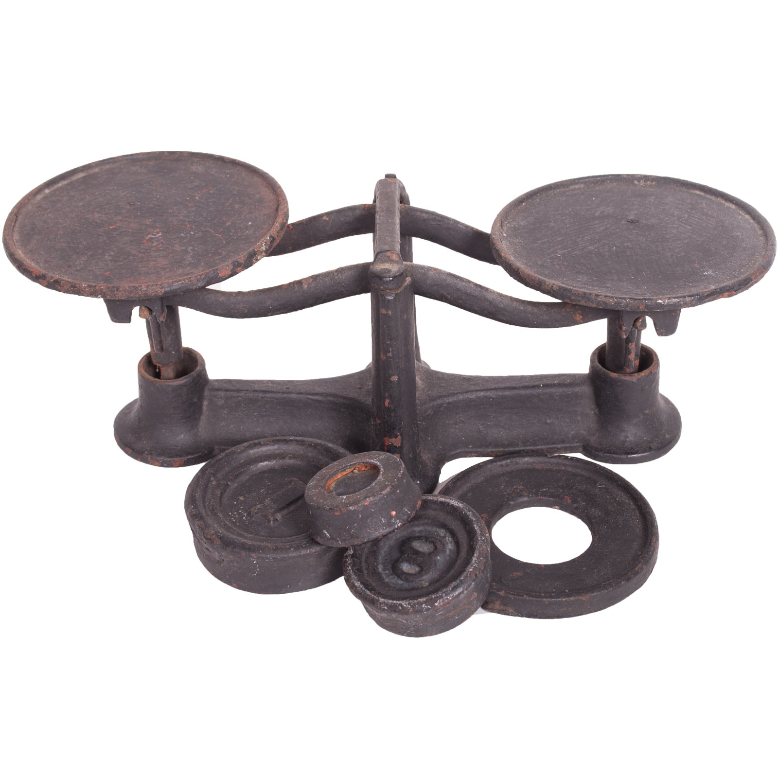 Vintage Cast Iron Scale with Weights
