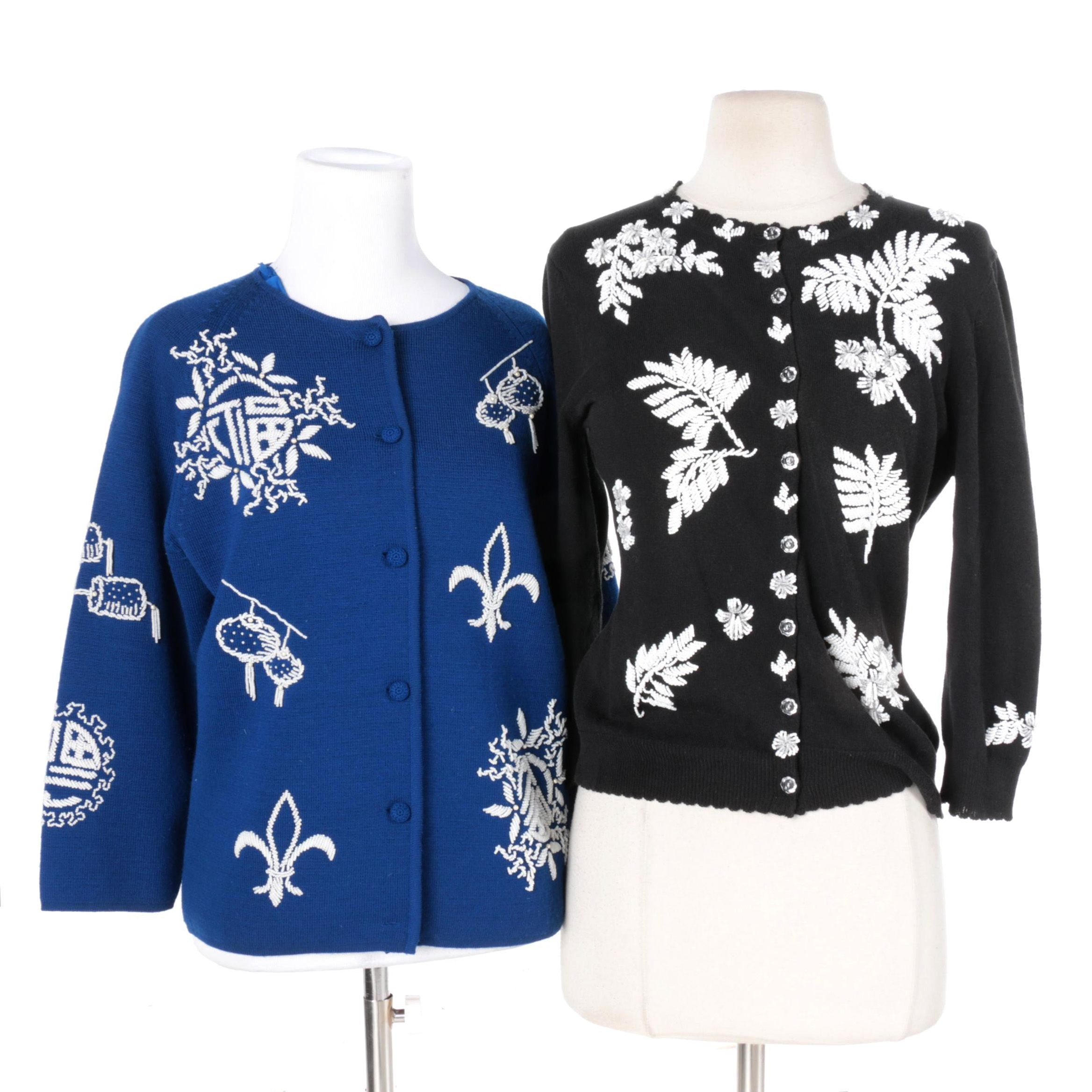 Vintage Women's Beaded Sweaters Including Banff Ltd.