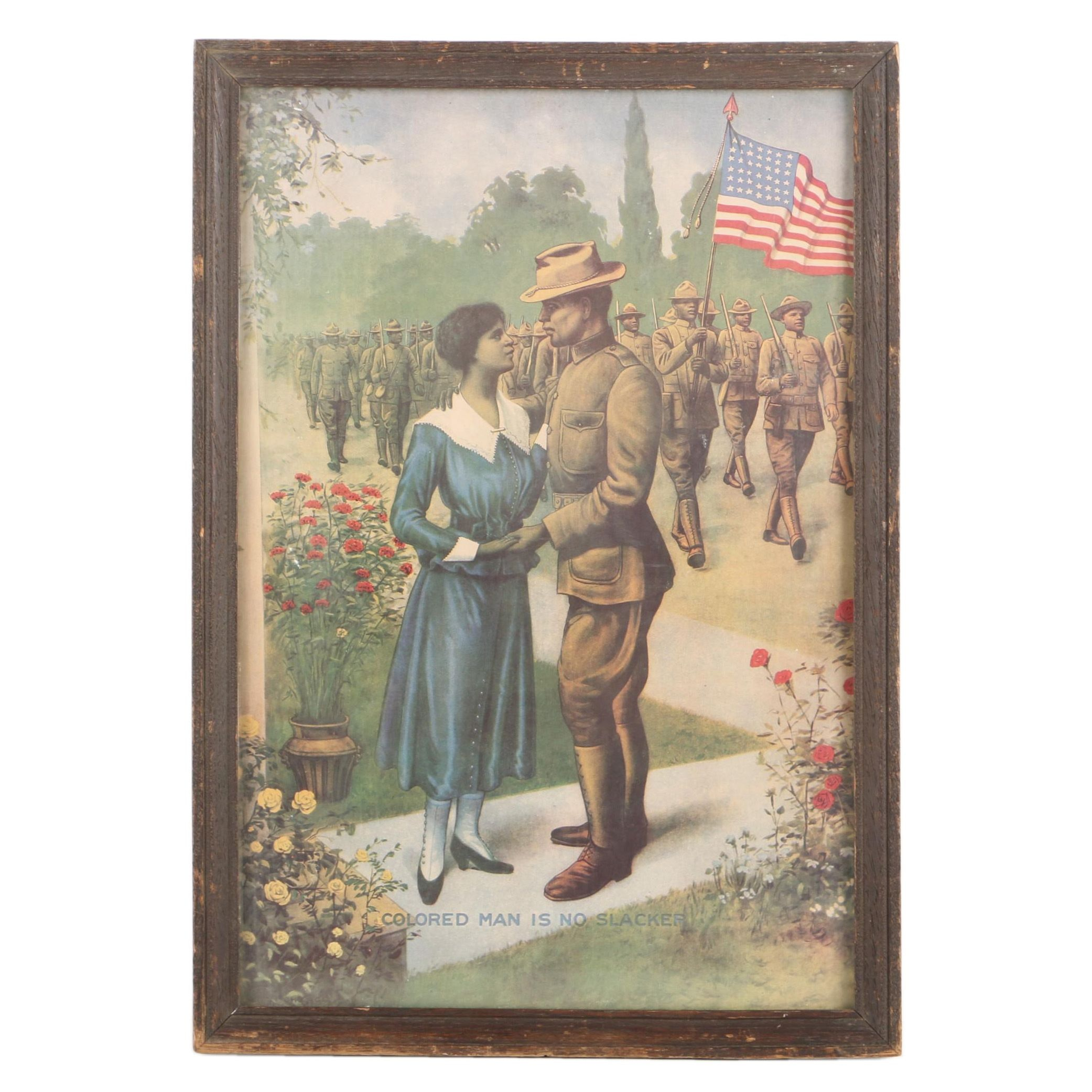Offset Lithograph After E. G. Renesch of WWI African American Soldiers