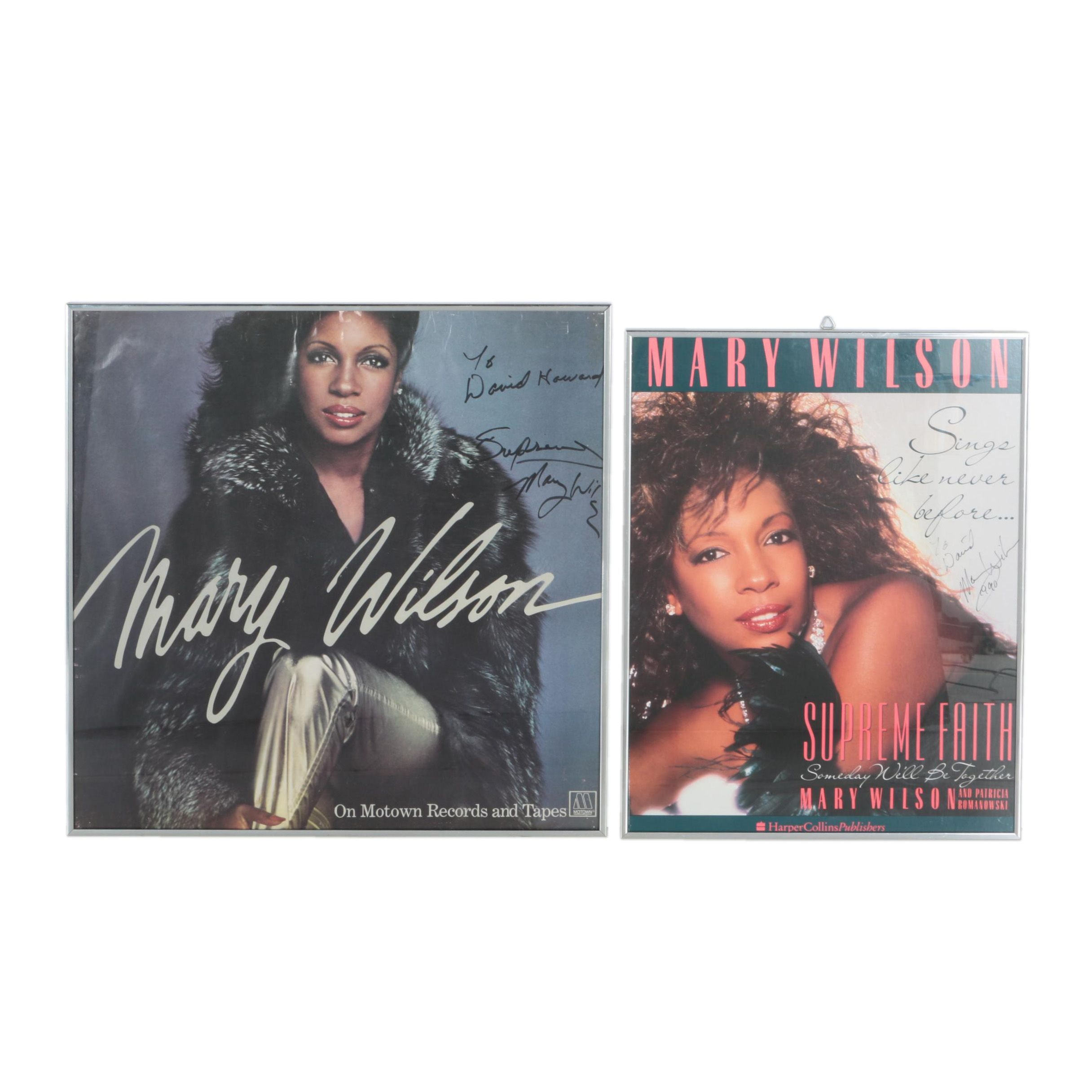 Mary Wilson Autographed Posters