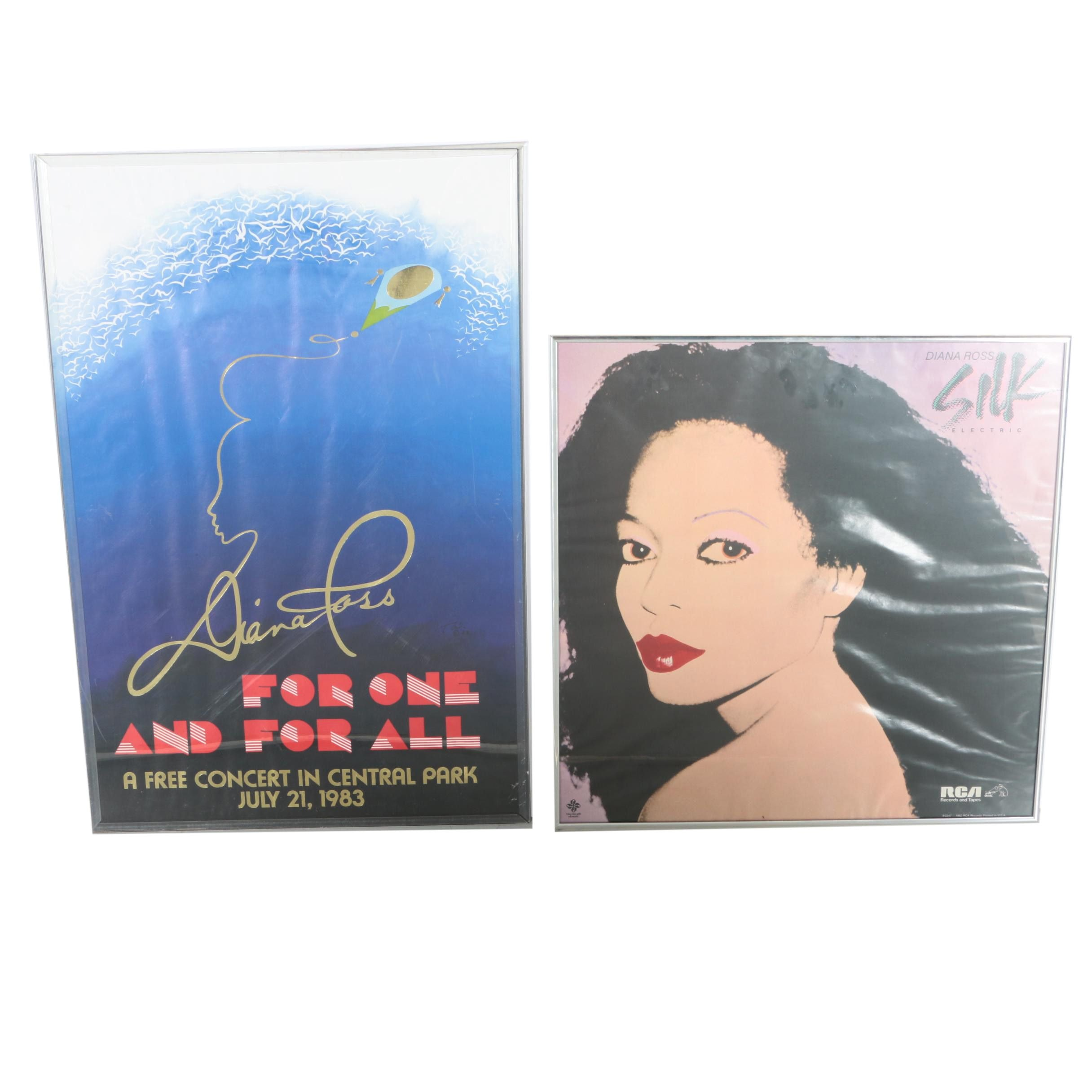 Collection of Offset Lithograph Diana Ross Posters