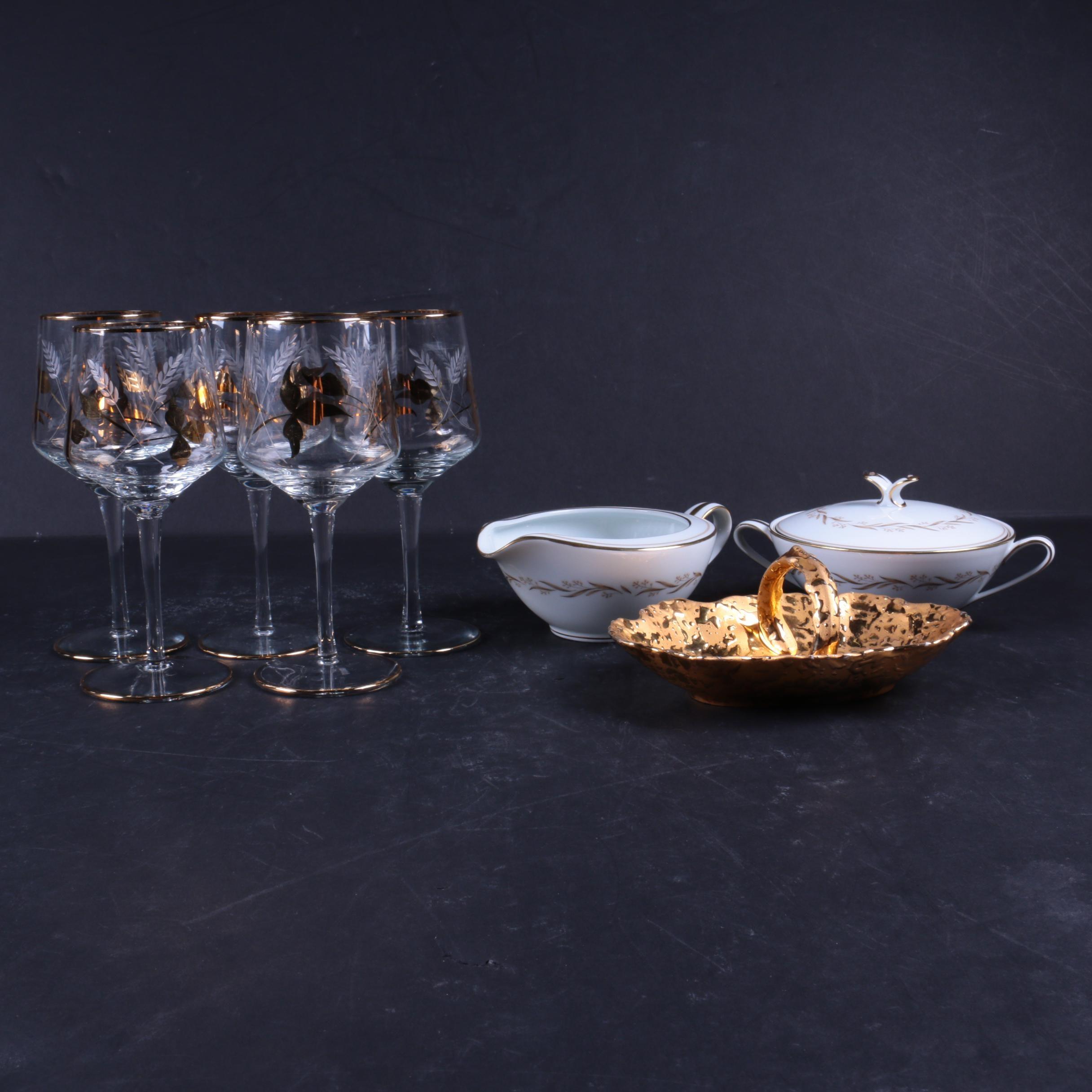 Tableware and Glassware Featuring Noritake