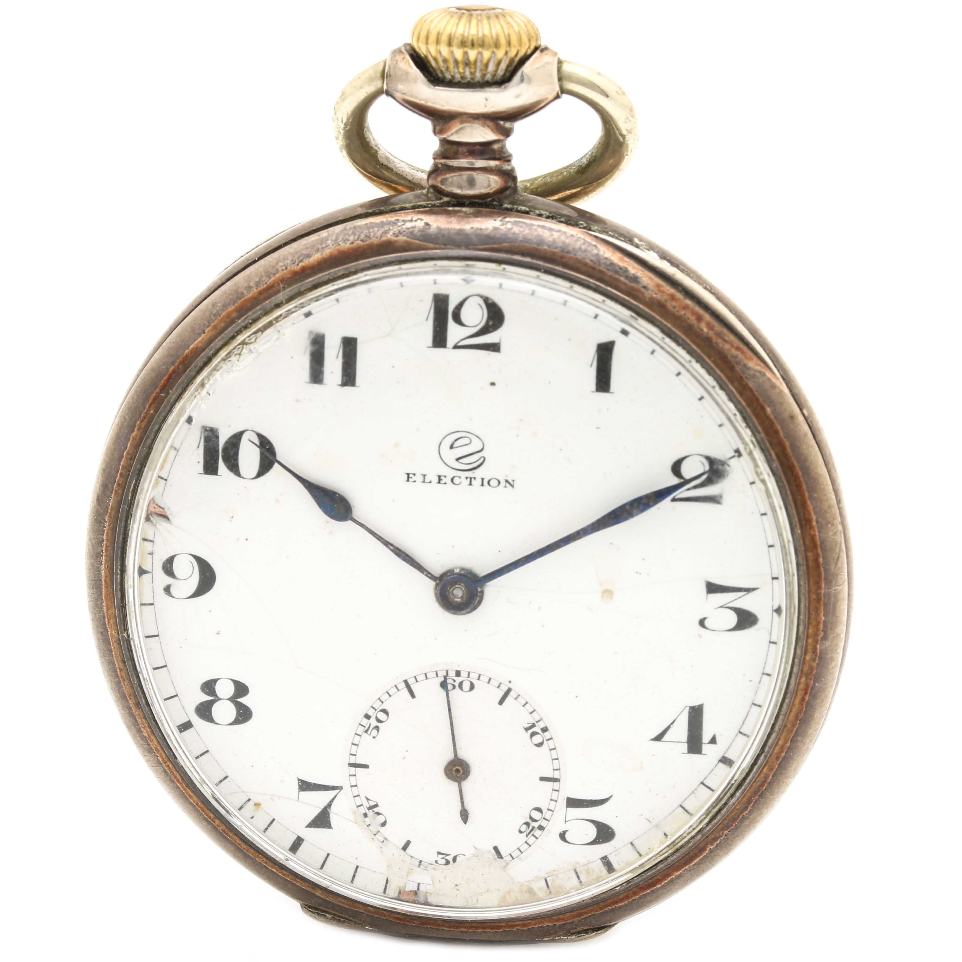 Election 800 Silver Pocket Watch