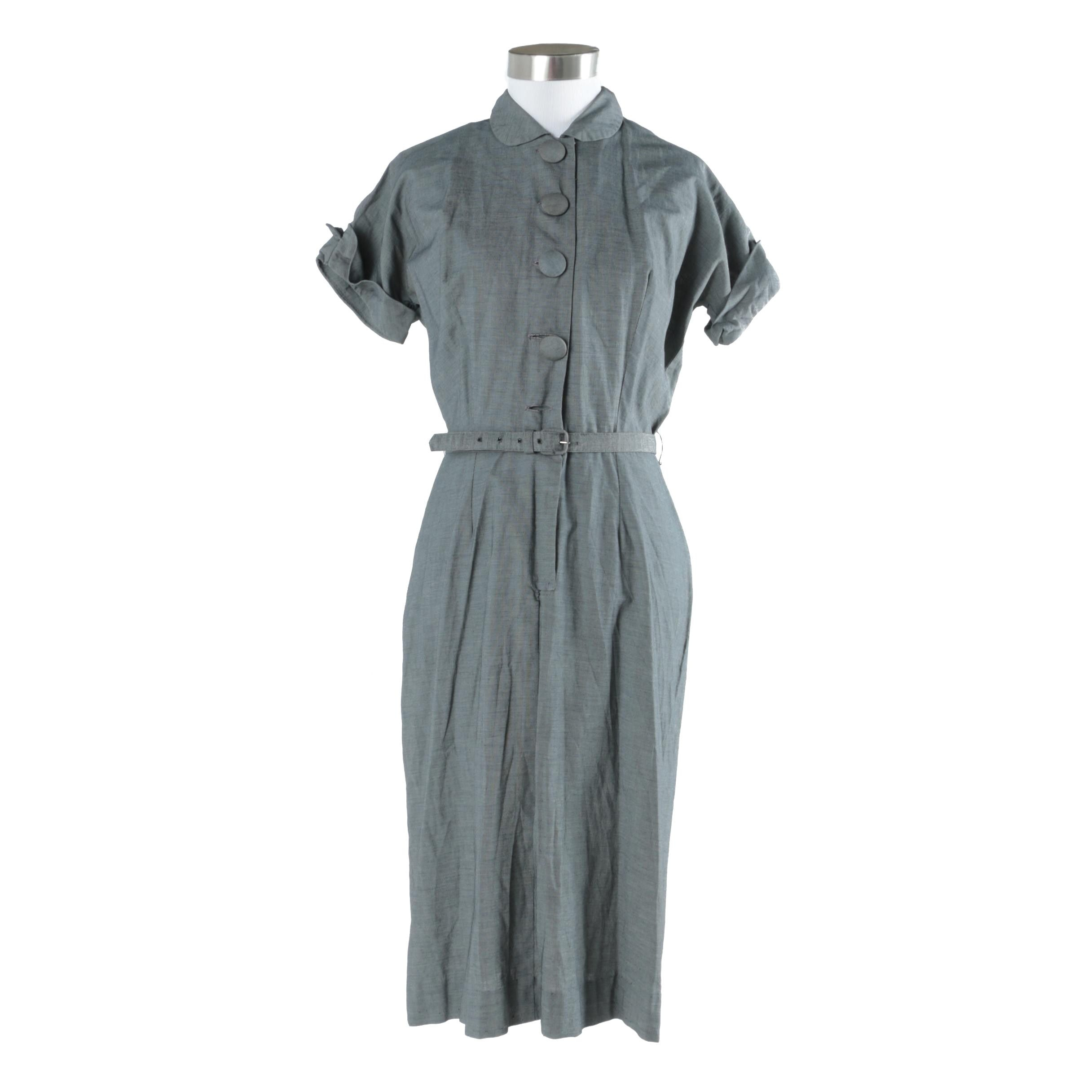 Women's Vintage Shirtwaist Dress