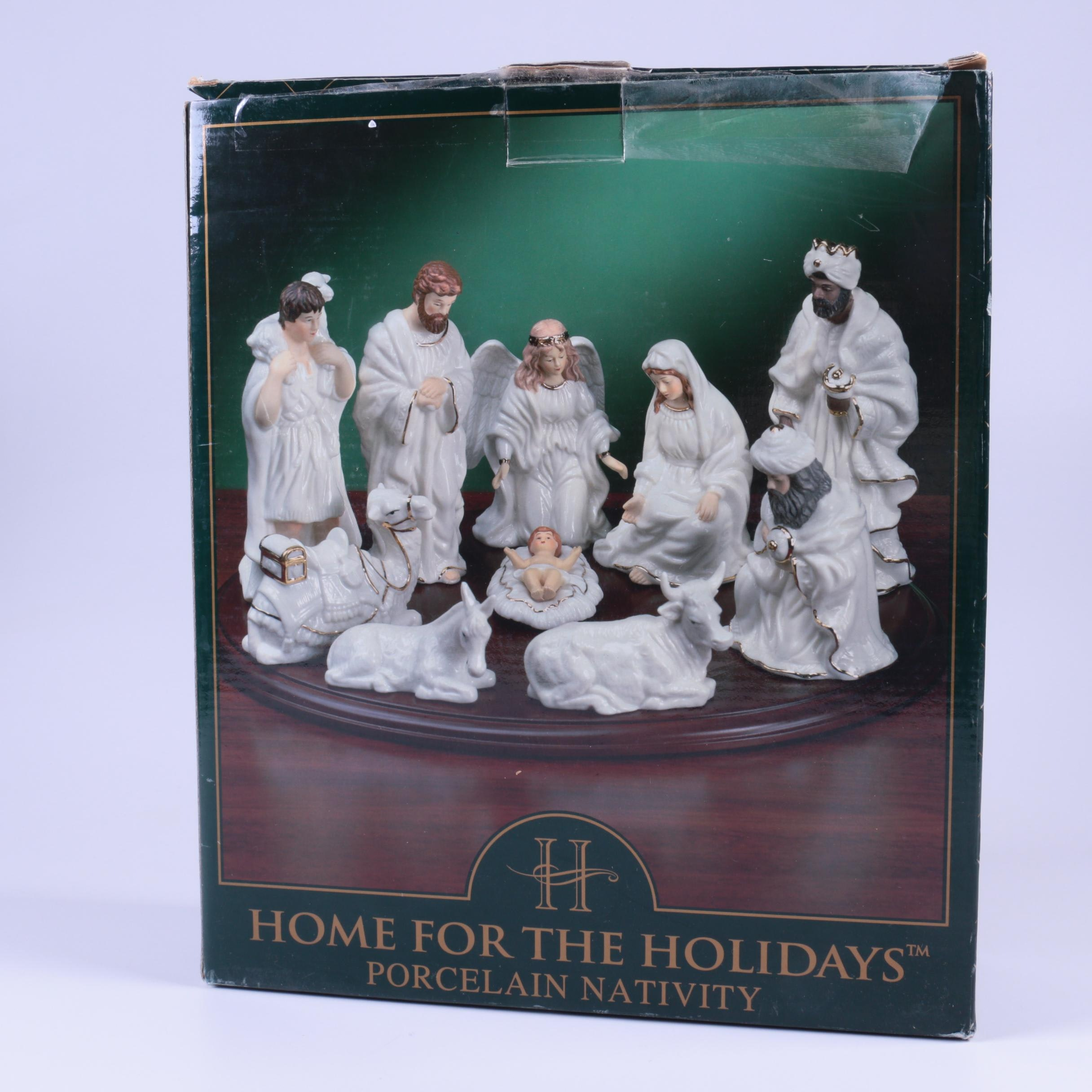 Home for the Holidays Porcelain Nativity